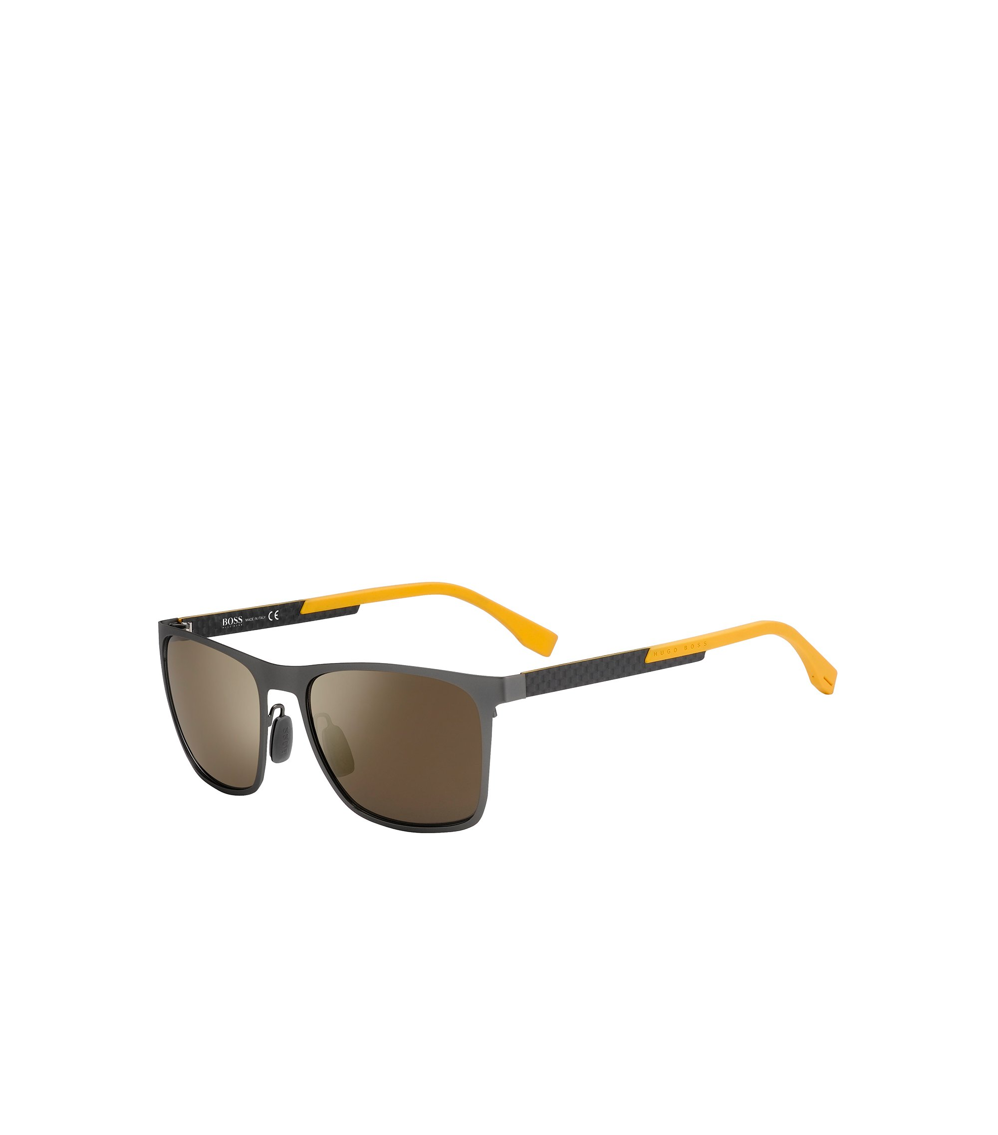 Gunmetal Flash Lens Rectangular Sunglasses | BOSS 0732S, Assorted-Pre-Pack