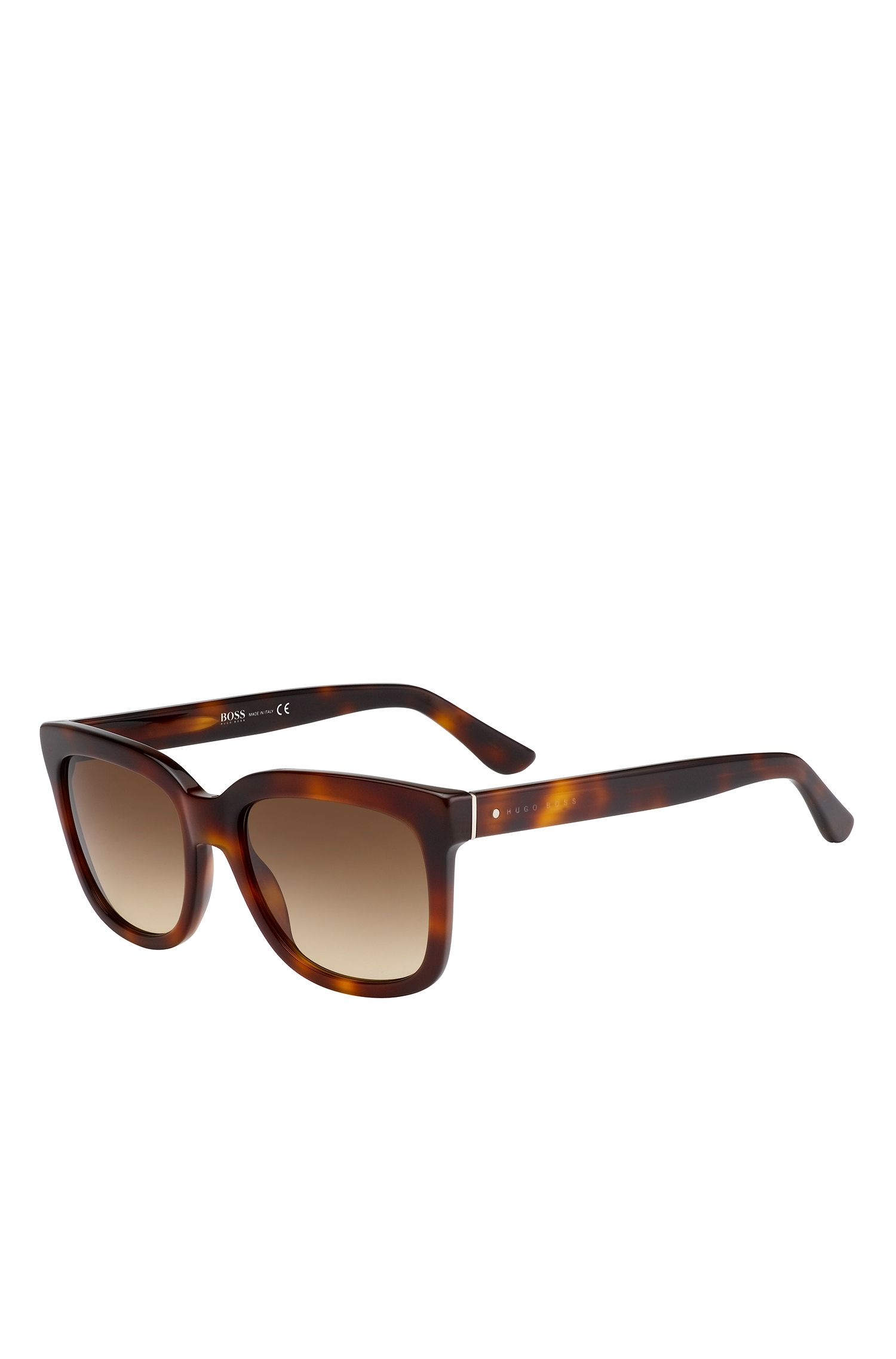 'BOSS 0741S' | Brown Lens Rectangular Sunglasses