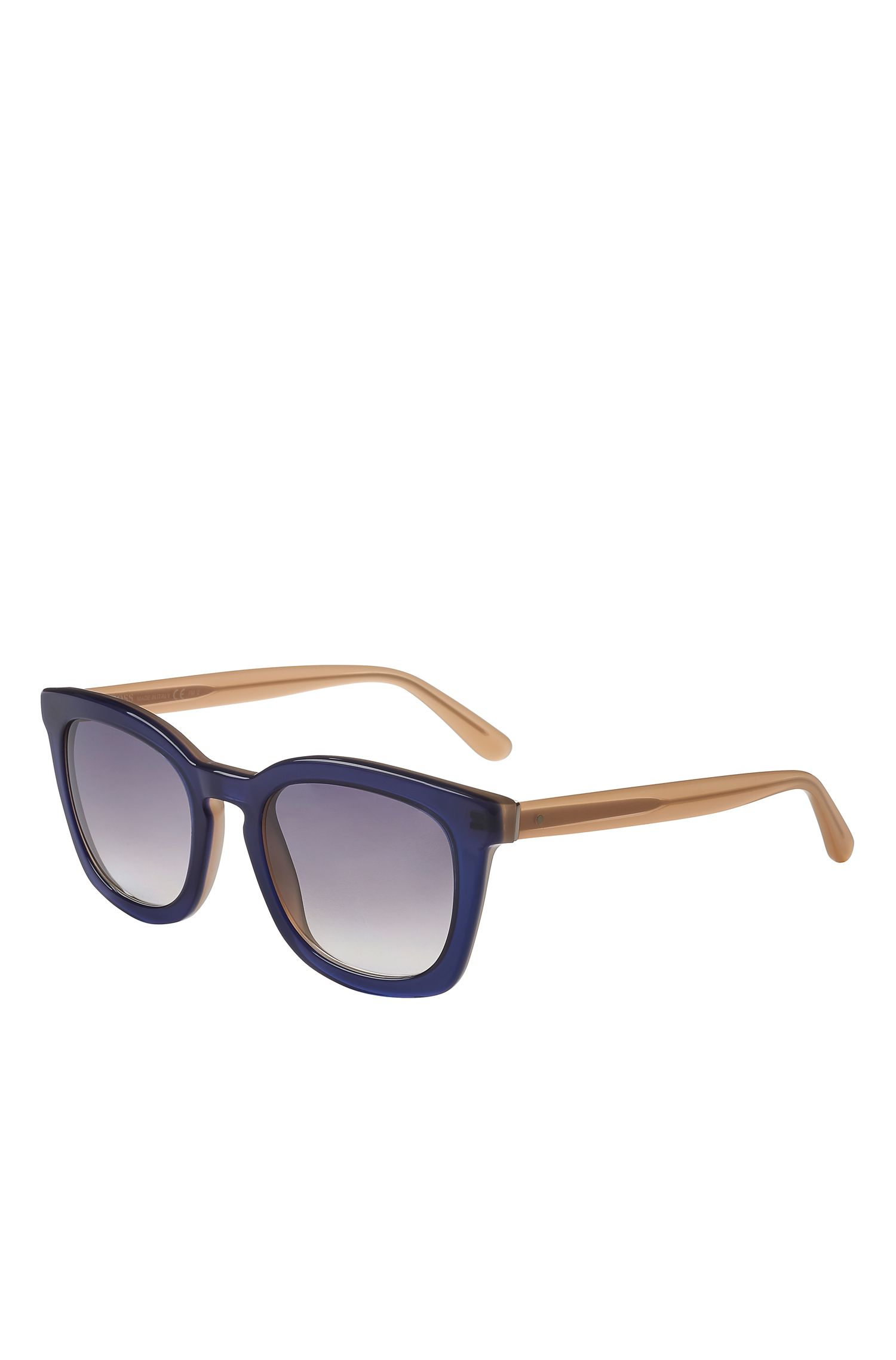 Gradient Blue Lens Rectangular Sunglasses | BOSS 0743S