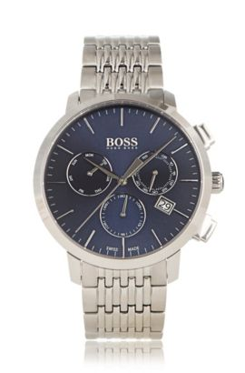 '1513269' | Chronograph Stainless Steel Swiss Quartz Watch, Assorted-Pre-Pack
