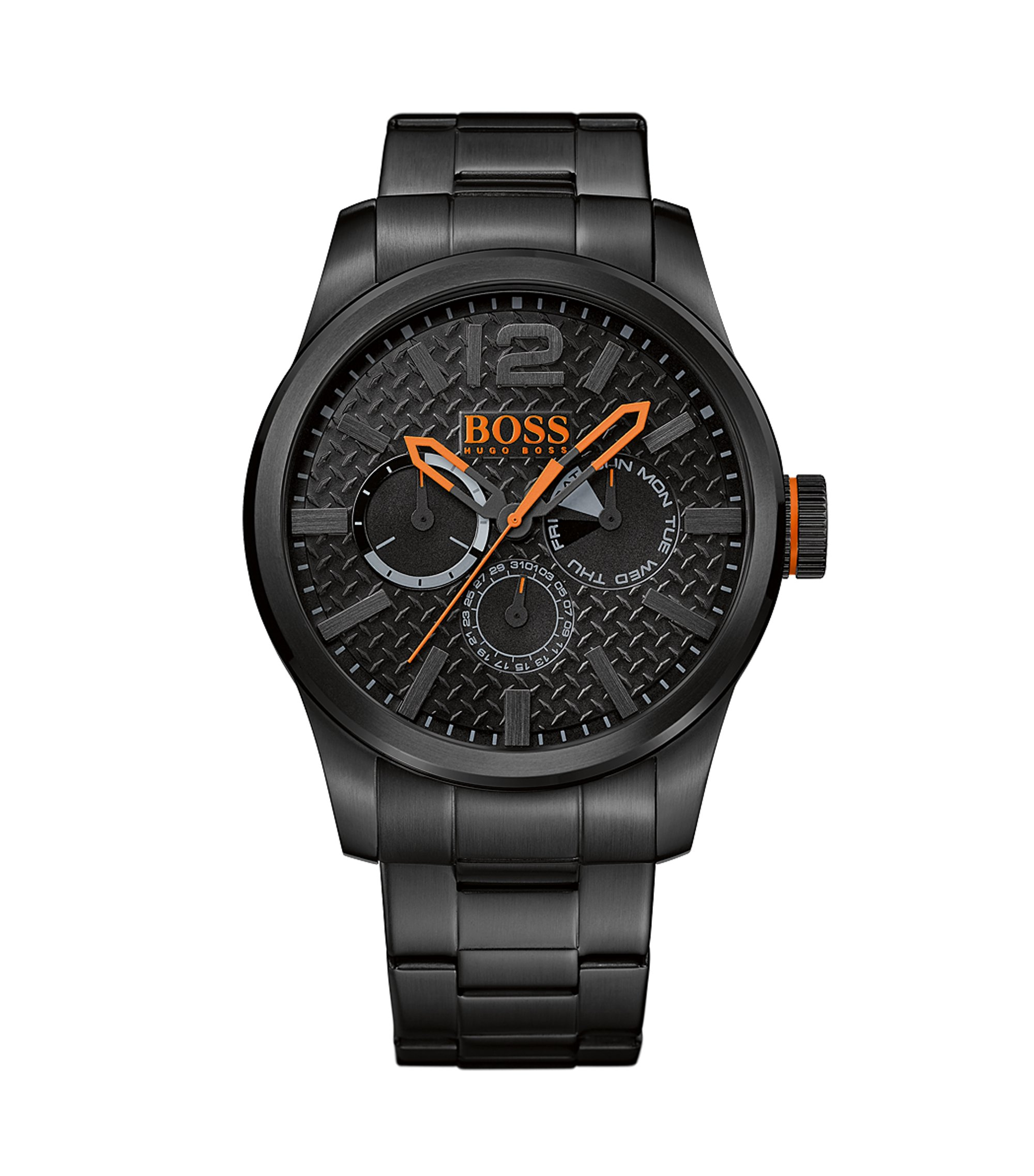 Chronograph Black IP Strap Watch | 1513239, Assorted-Pre-Pack