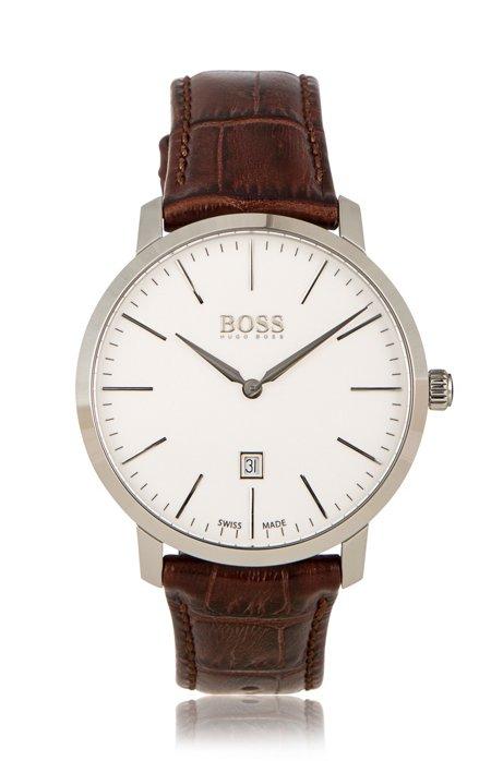 f61dbd72c63 BOSS - Italian Leather Swiss Quartz Watch