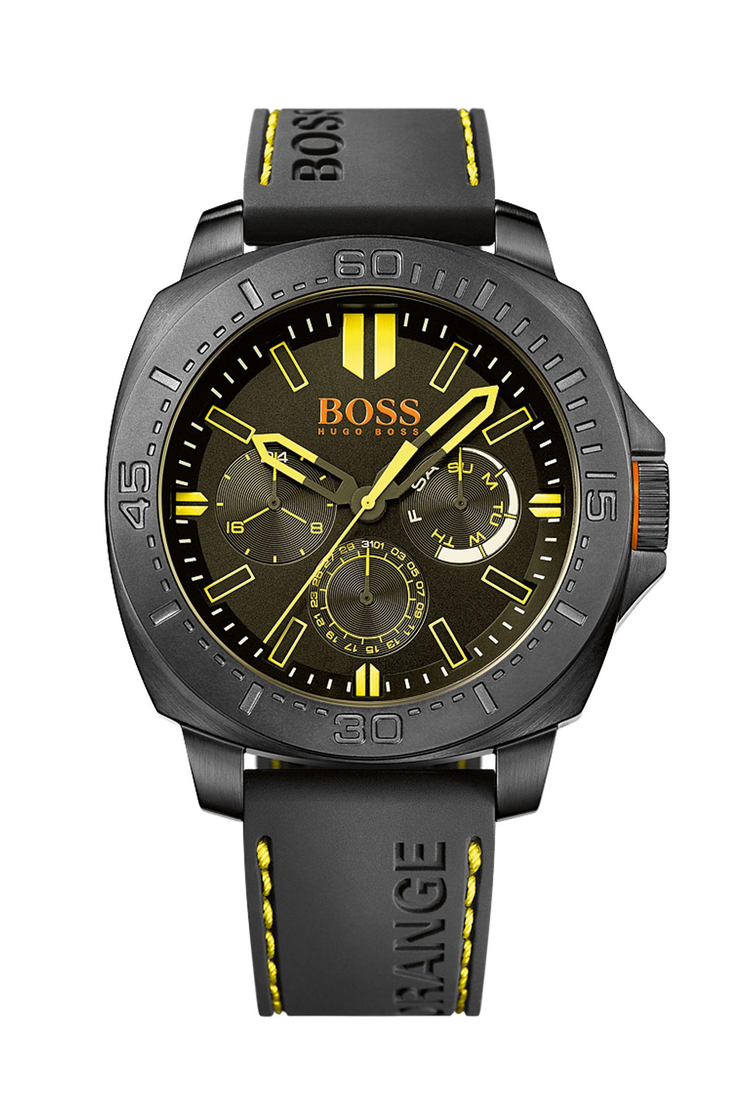 '1513243' | Chronograph Black Silicone Strap Watch
