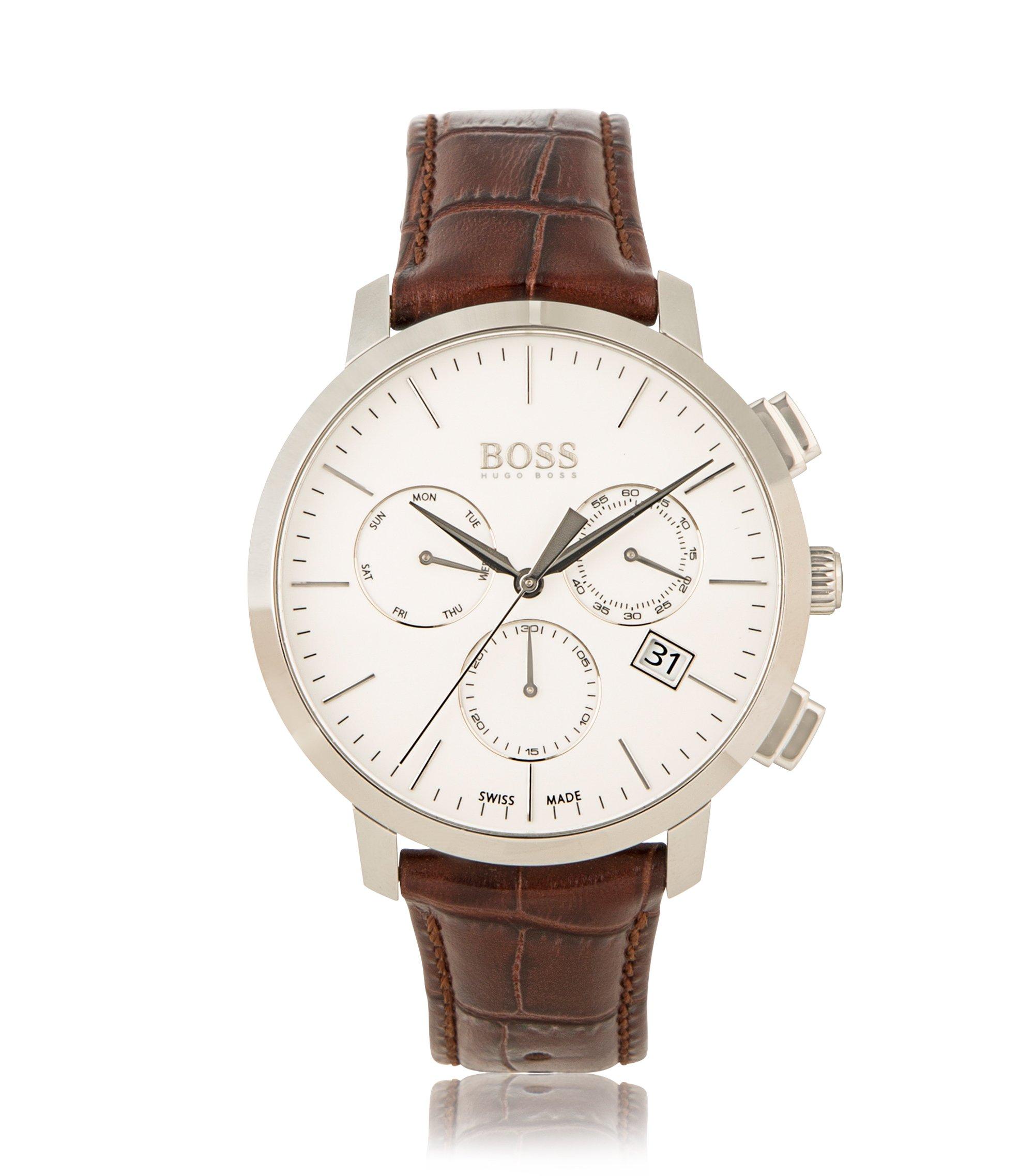 Italian Leather Swiss Quartz Chronograph Watch | 1513263, Assorted-Pre-Pack