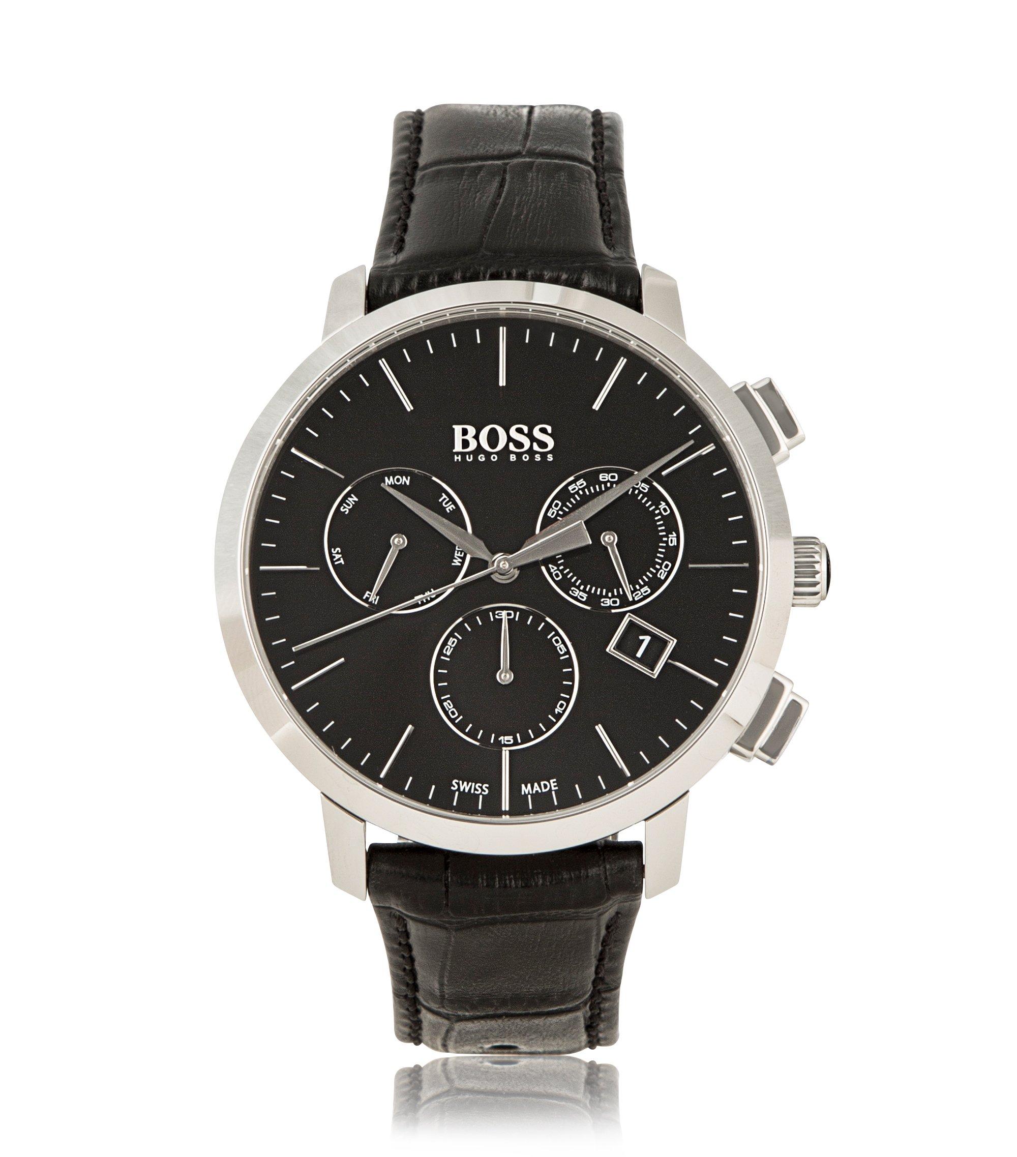 Italian Leather Swiss Quartz Chronograph Watch   1513263, Assorted-Pre-Pack