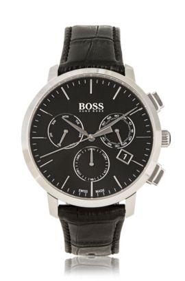 '1513263' | Chronograph Italian Leather Swiss Quartz Watch, Assorted-Pre-Pack