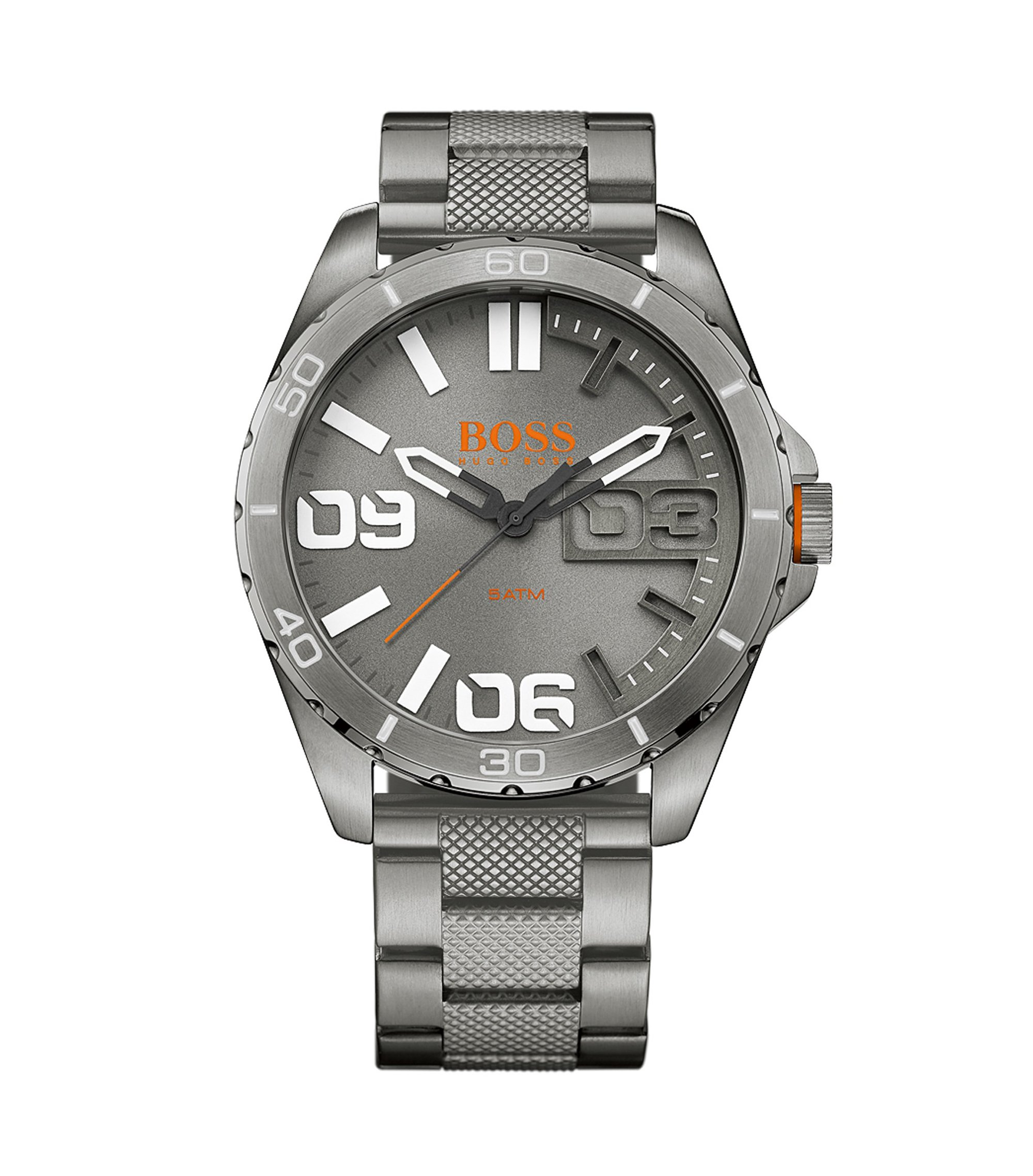 Brushed Stainless Steel Chronograph Watch   1513289, Assorted-Pre-Pack