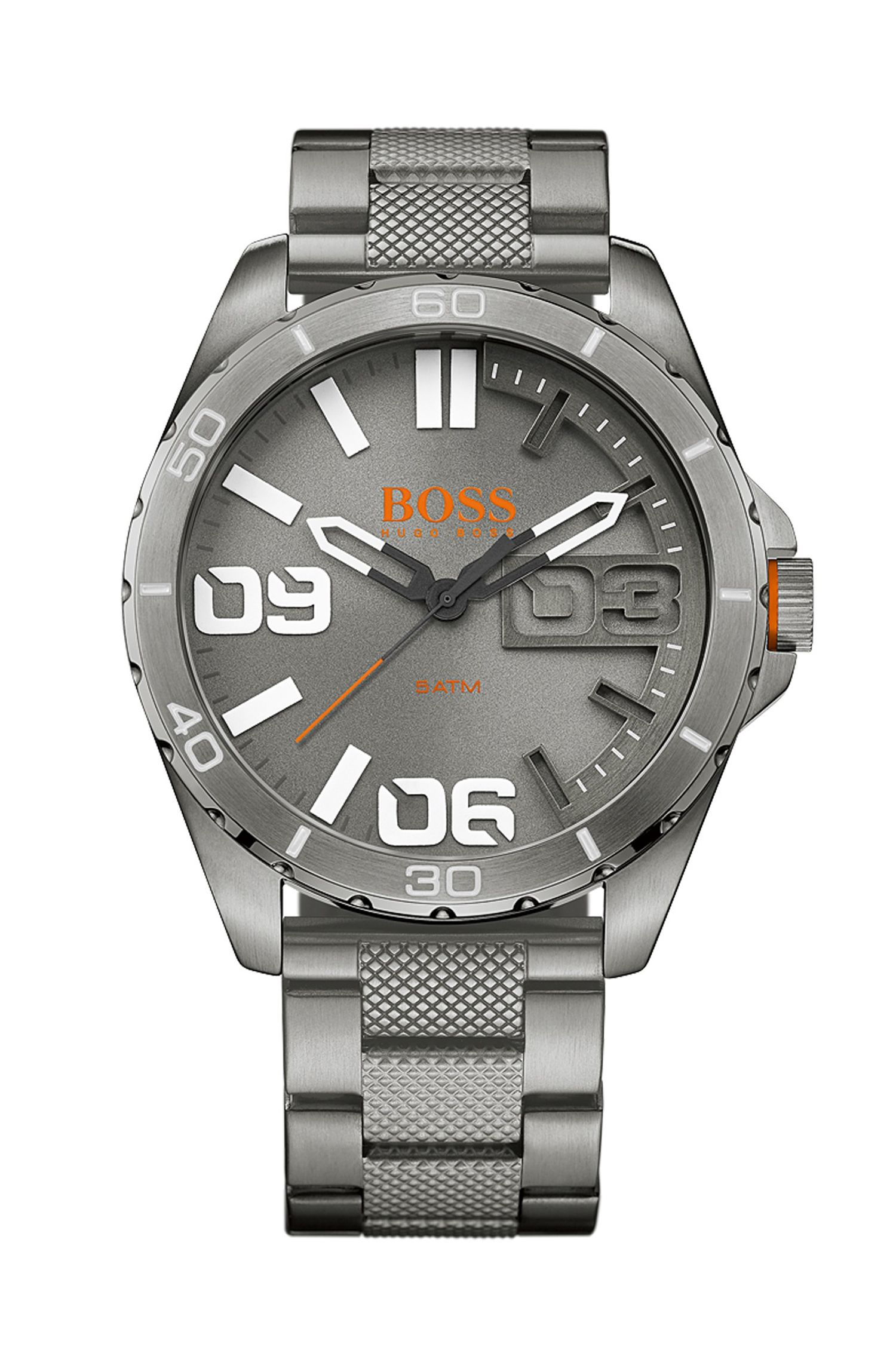 '1513289' | Brushed Stainless Steel Quartz Watch