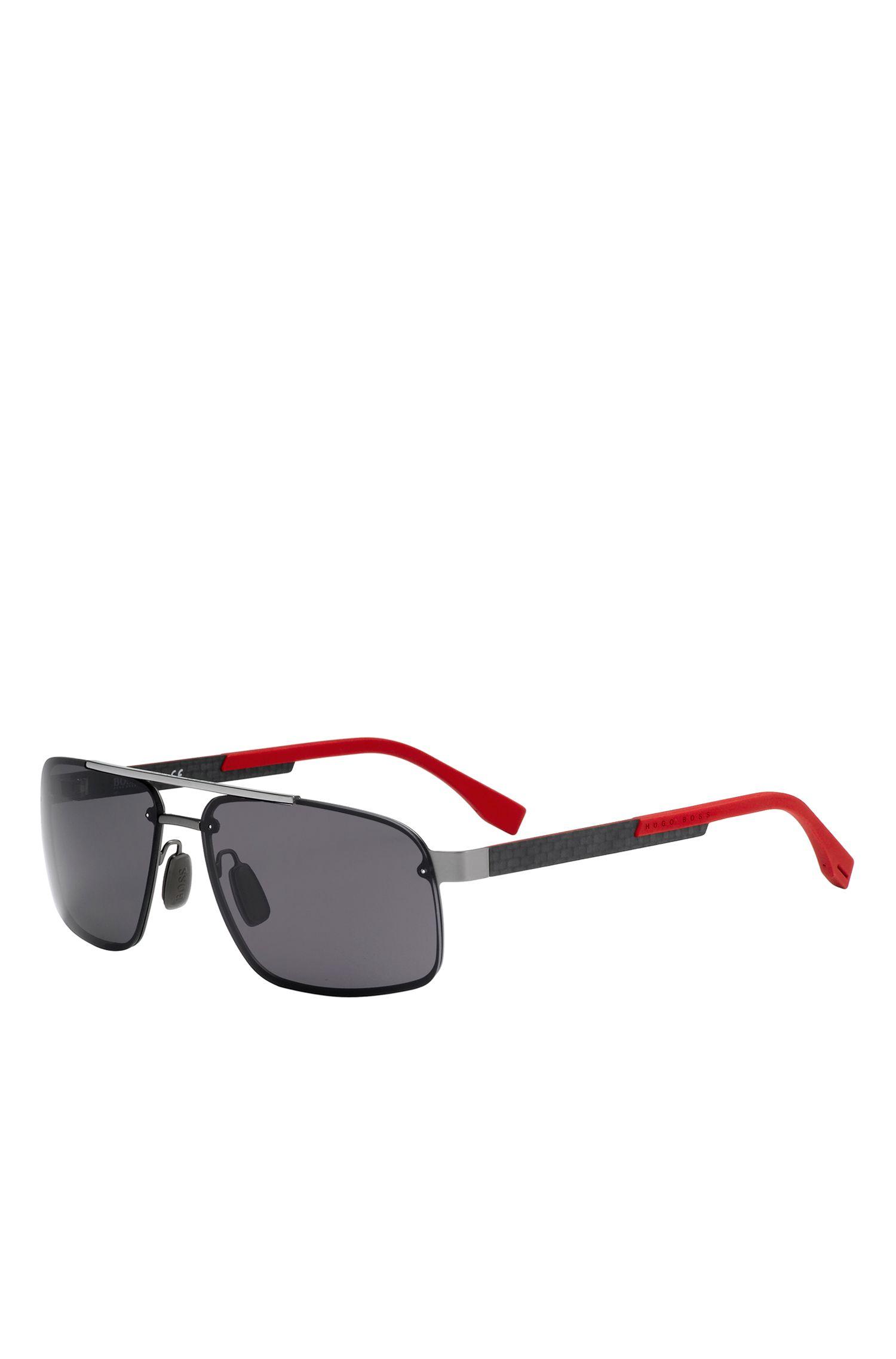 'BOSS 0773'   Polar Gray Lens Navigator Sunglasses