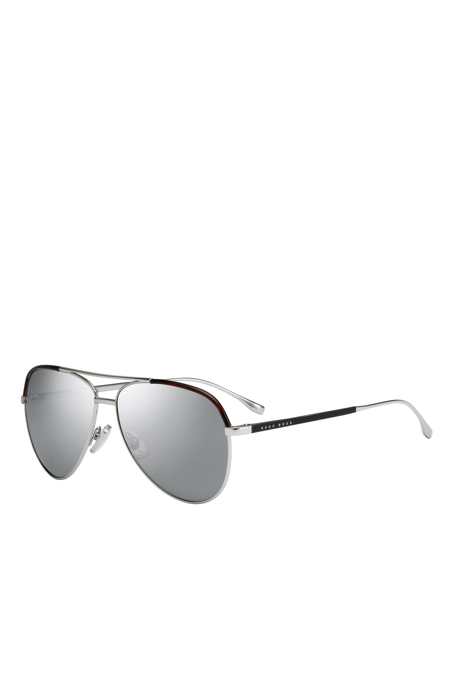 Sliver Mirror Lens Aviator Sunglasses | BOSS 0782S