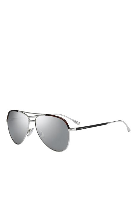 Sliver Mirror Lens Aviator Sunglasses | BOSS 0782S, Assorted-Pre-Pack