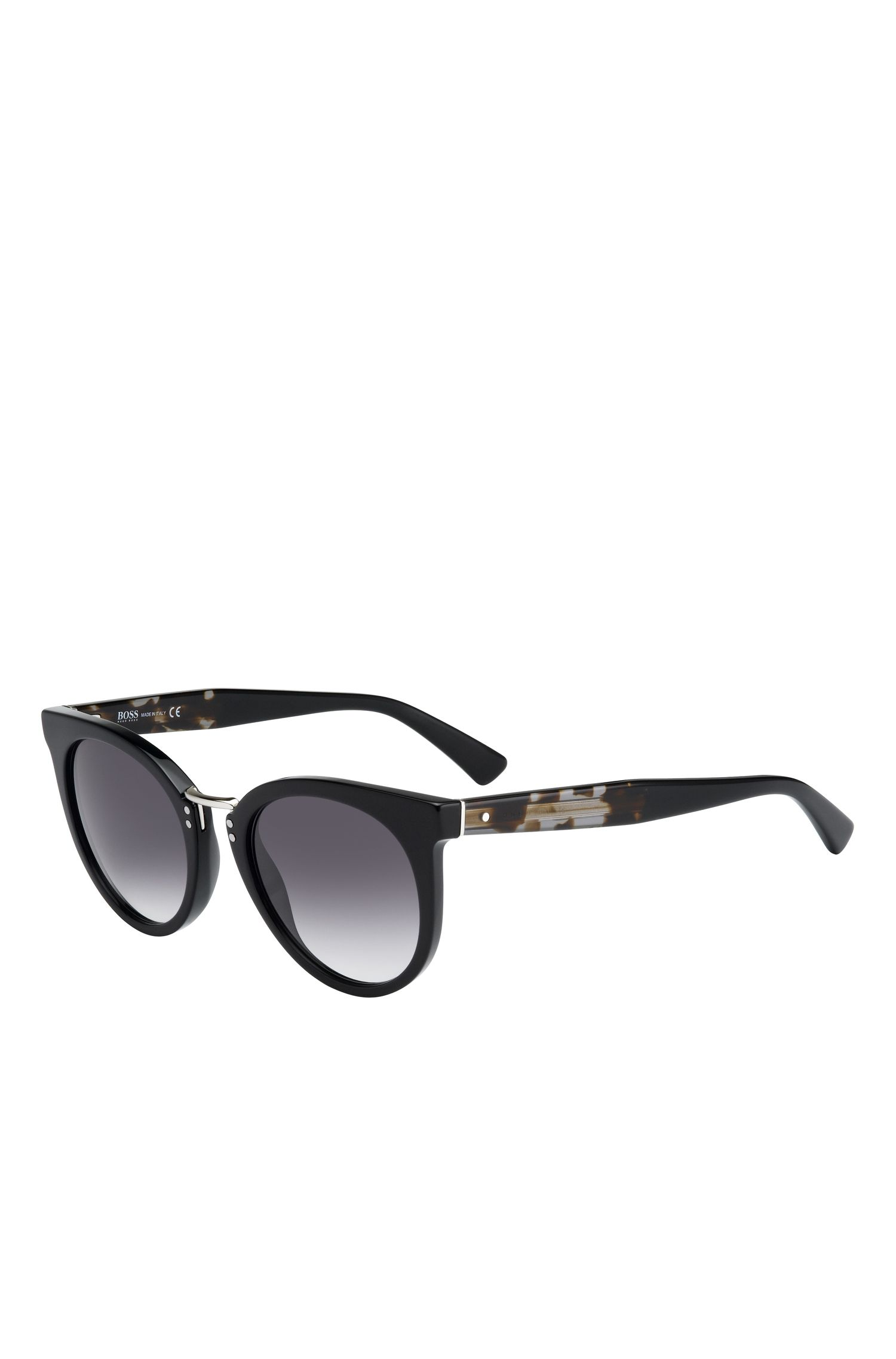 Black Lens Rounded Cateye Havana Sunglasses | BOSS 0793S