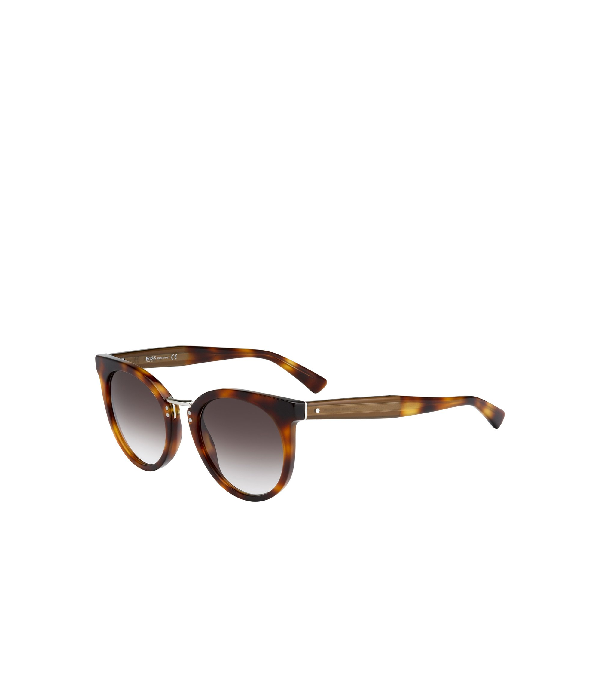 Black Lens Rounded Cateye Havana Sunglasses | BOSS 0793S, Assorted-Pre-Pack