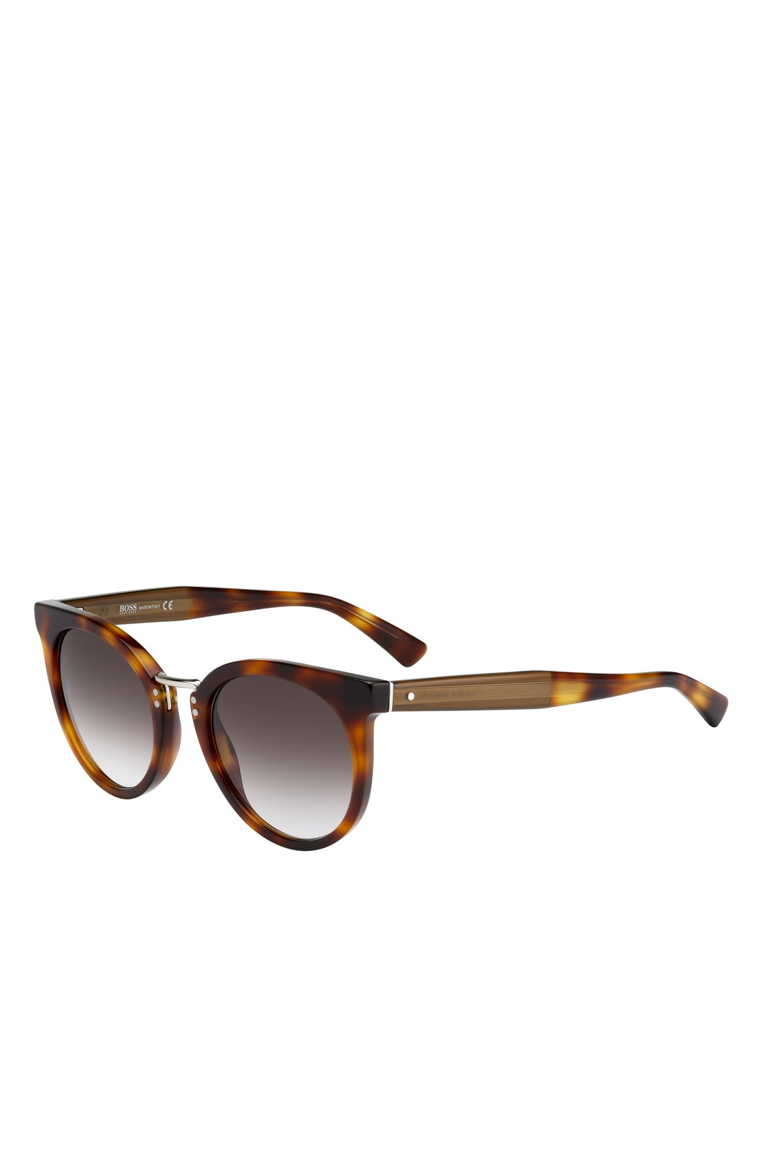 'BOSS 0793S' | Black Lens Rounded Cateye Havana Sunglasses