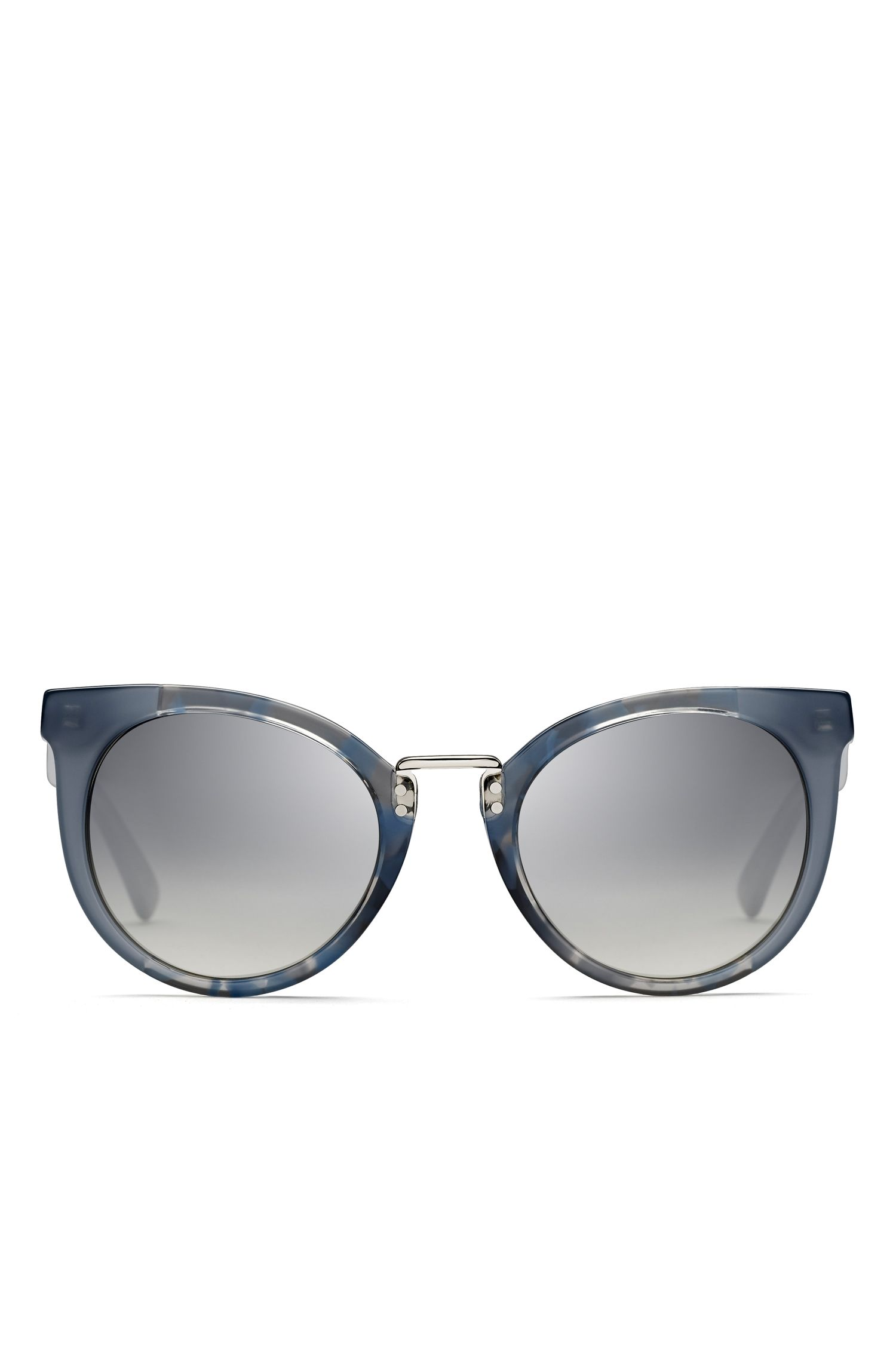 Gray Lens Rounded Cateye Havana Sunglasses | BOSS 0793S