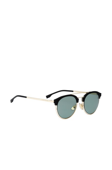 Gray Green Lens Clubmaster Sunglasses | BOSS 0784S, Assorted-Pre-Pack
