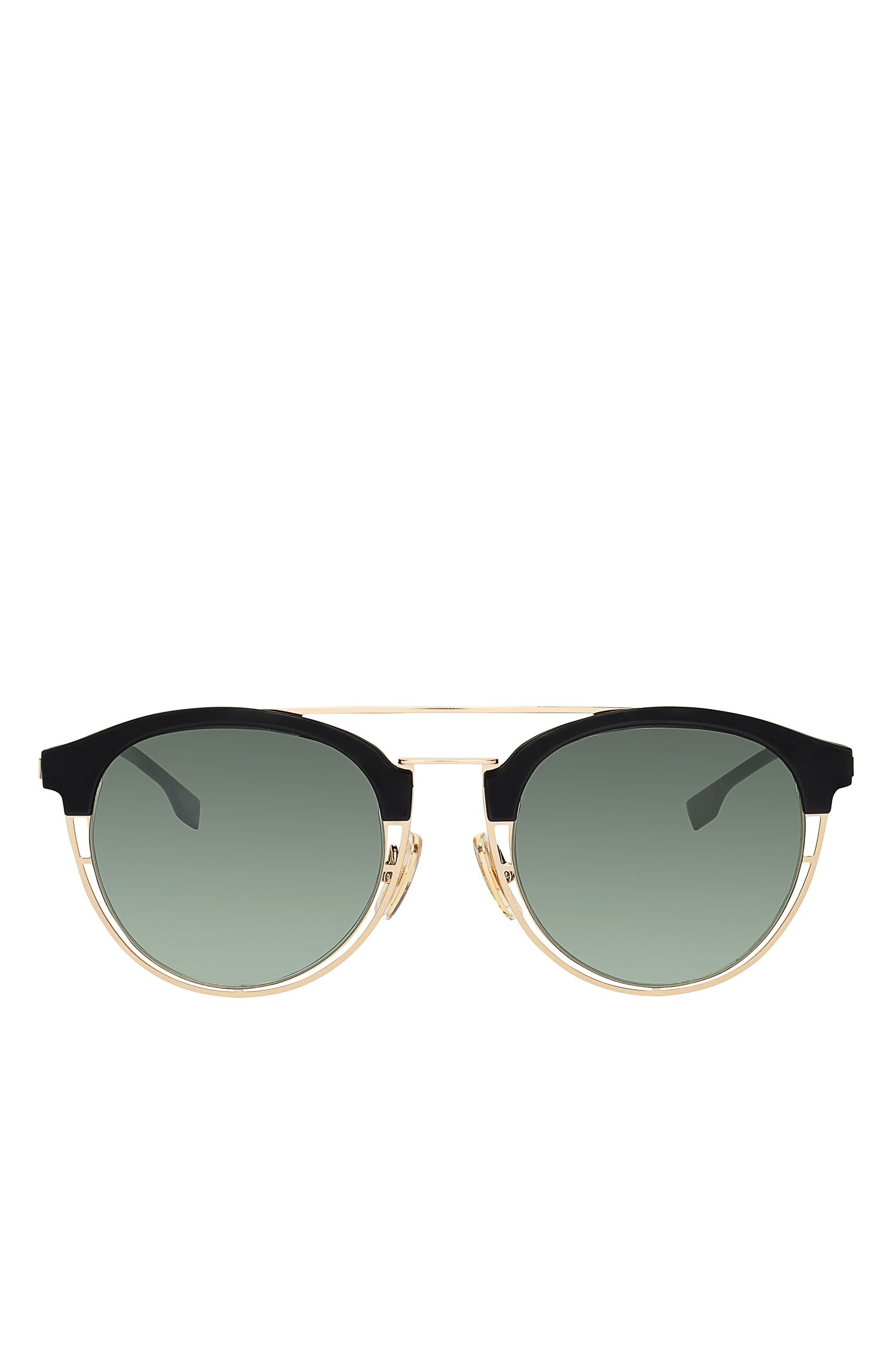 Gray Green Lens Clubmaster Sunglasses | BOSS 0784S