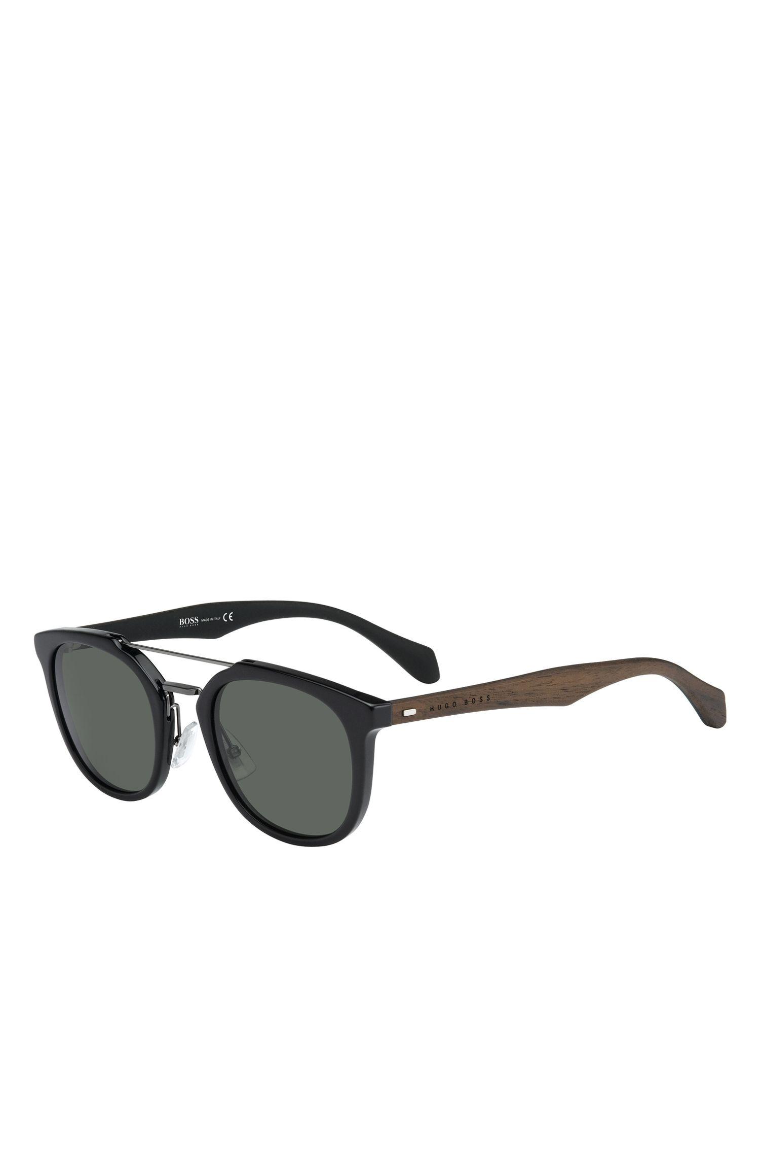 'BOSS 0777S' | Gray Green Lens Clubmaster Sunglasses
