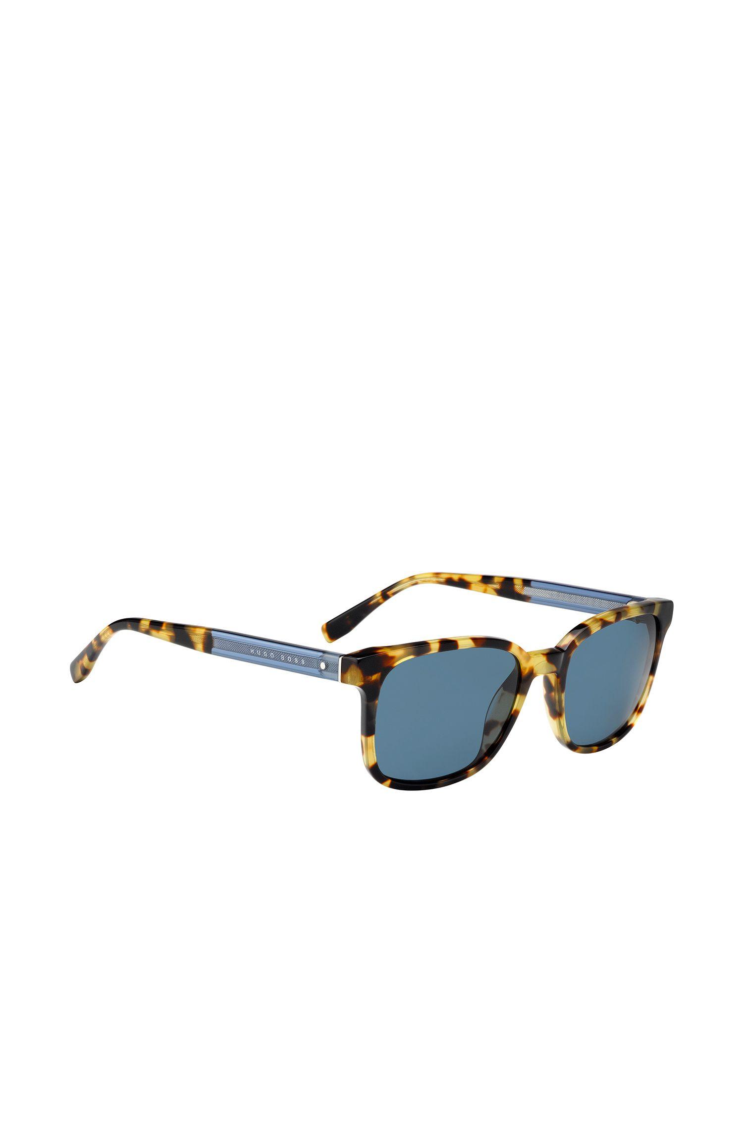 'BOSS 0802S' | Blue Lens Square Sunglasses