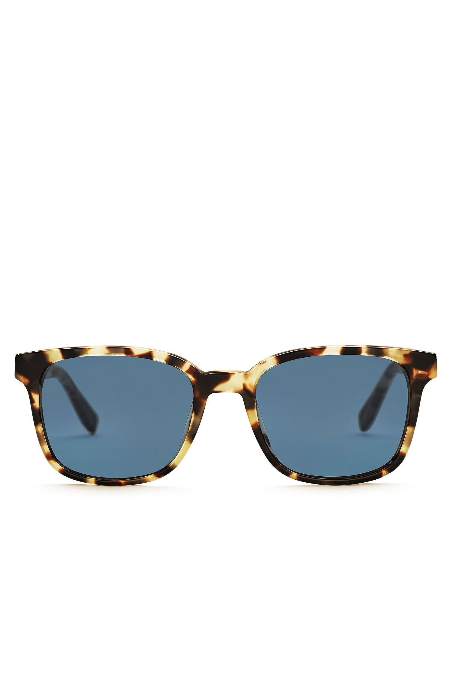 Blue Lens Square Sunglasses | BOSS 0802S