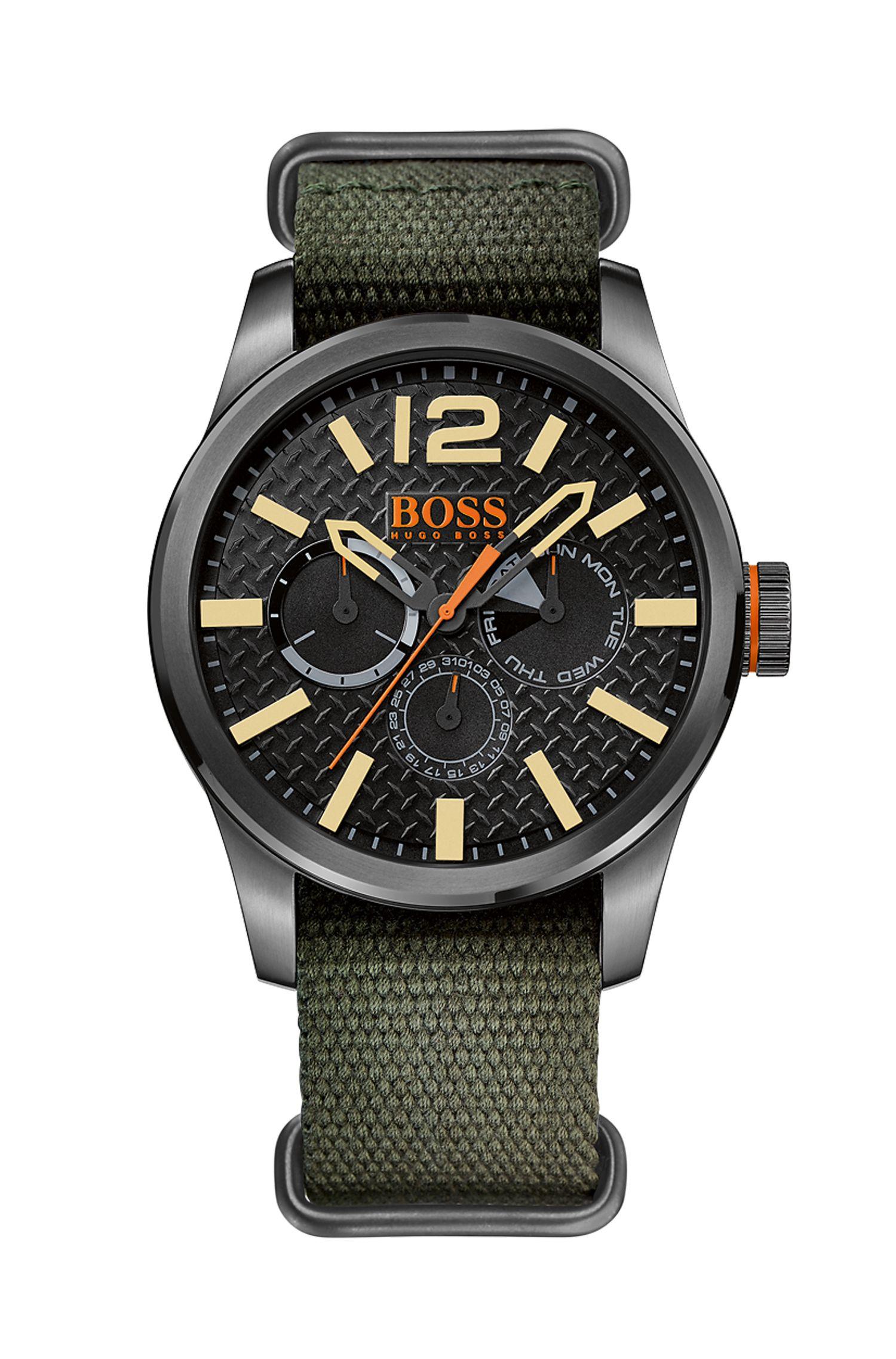 '1513312'   Textile Strap 3-Hand Quartz Watch