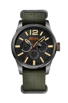 '1513312' | Textile Strap 3-Hand Quartz Watch, Assorted-Pre-Pack