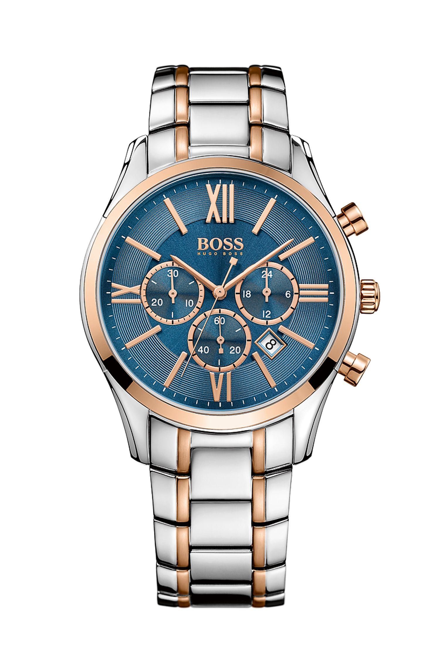 Stainless Steel Rose-Gold Tone Chronograph Watch | 1513321