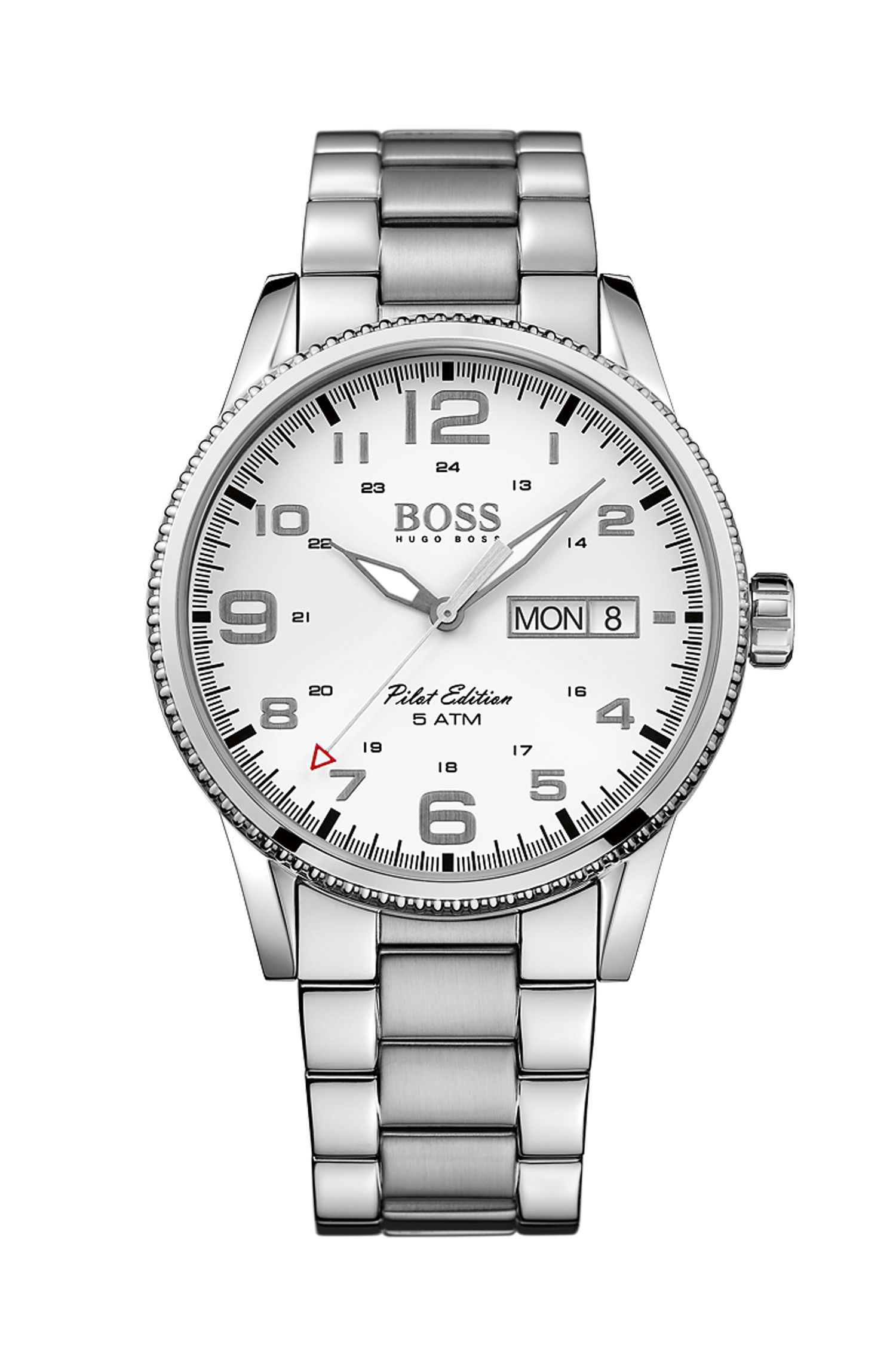 '1513328'   Stainless Steel Pilot Edition Watch