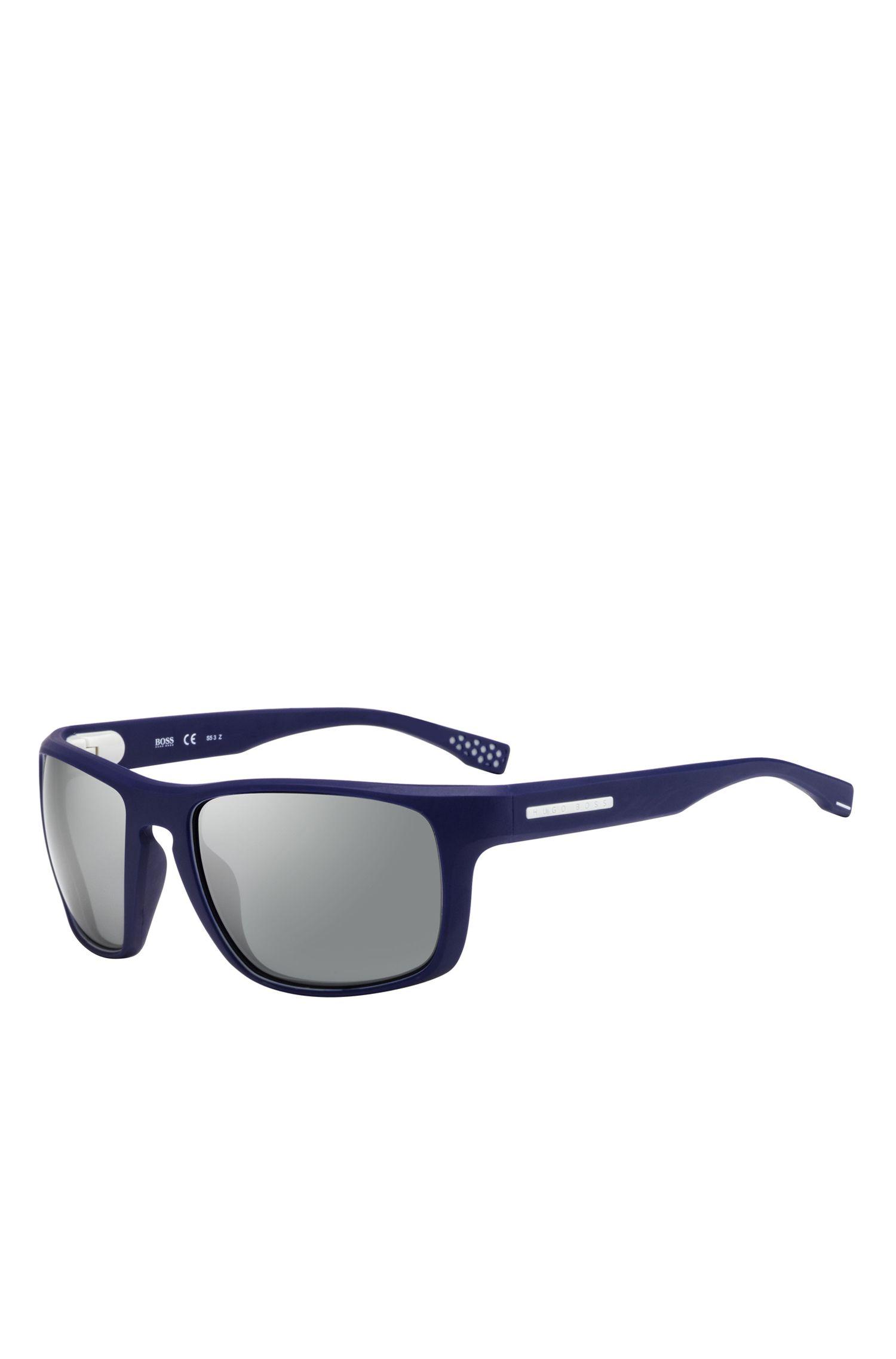 'BOSS 0800S' | Mirror Lens Water Repellent Rectangular Sunglasses