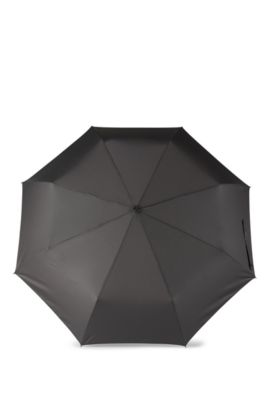 'Umbrella New Loop Dark' | Aluminum Frame Patterned Pocket Umbrella, Grey