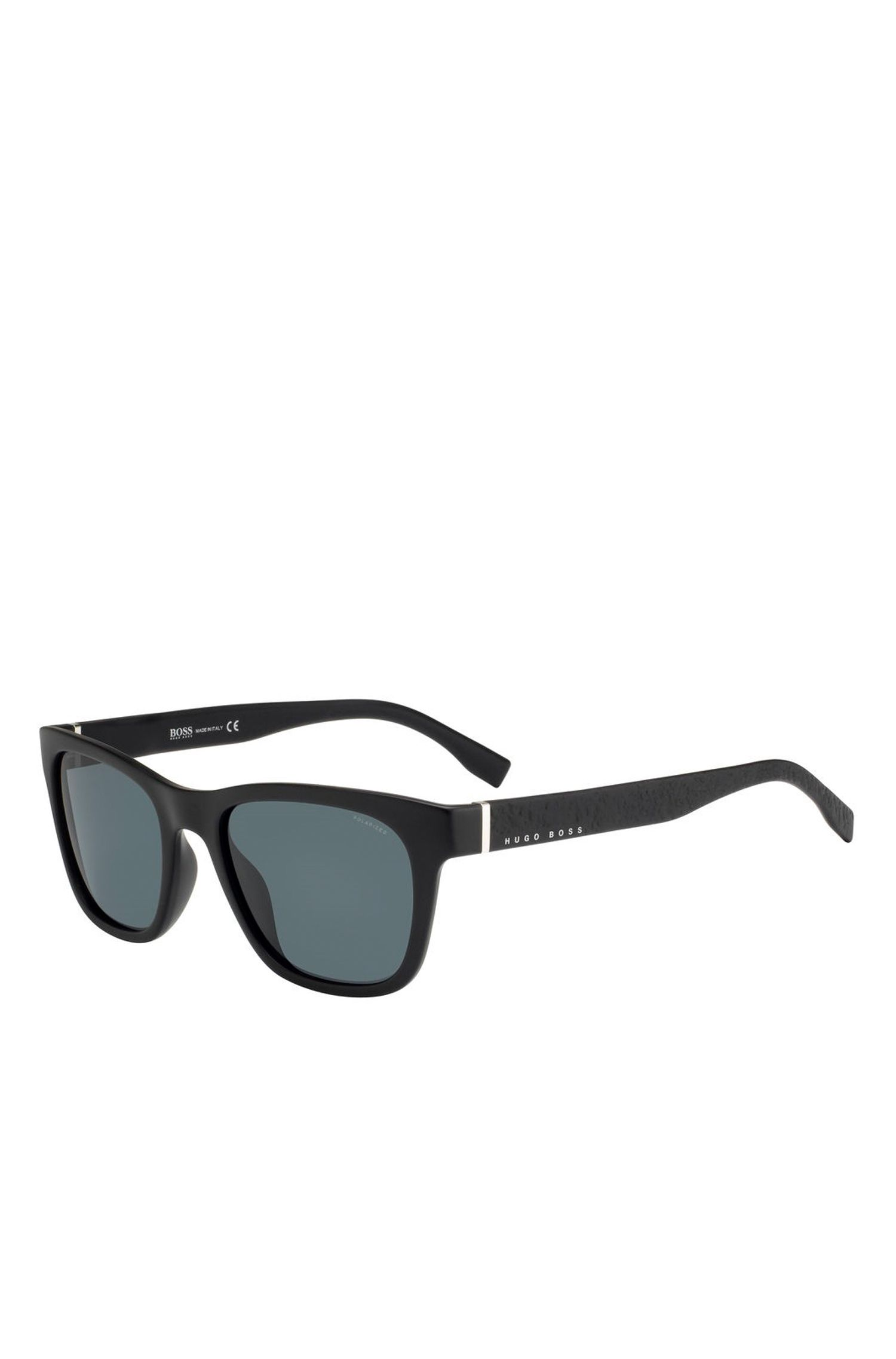 '0830S' | Black Lens Polarized Optyl Square Sunglasses