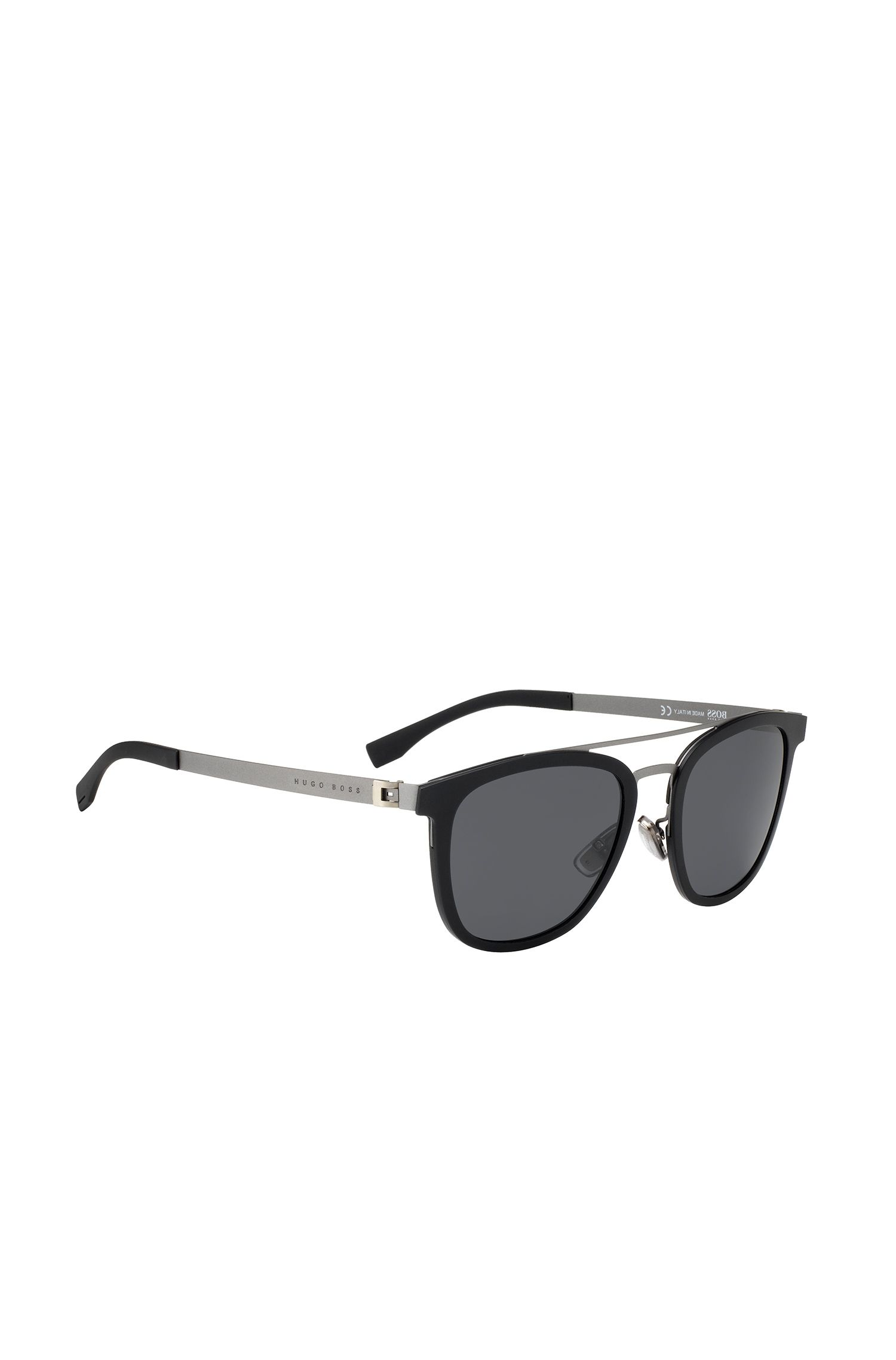 Acetate Stainless Steel Round Sunglasses | BOSS 0838S