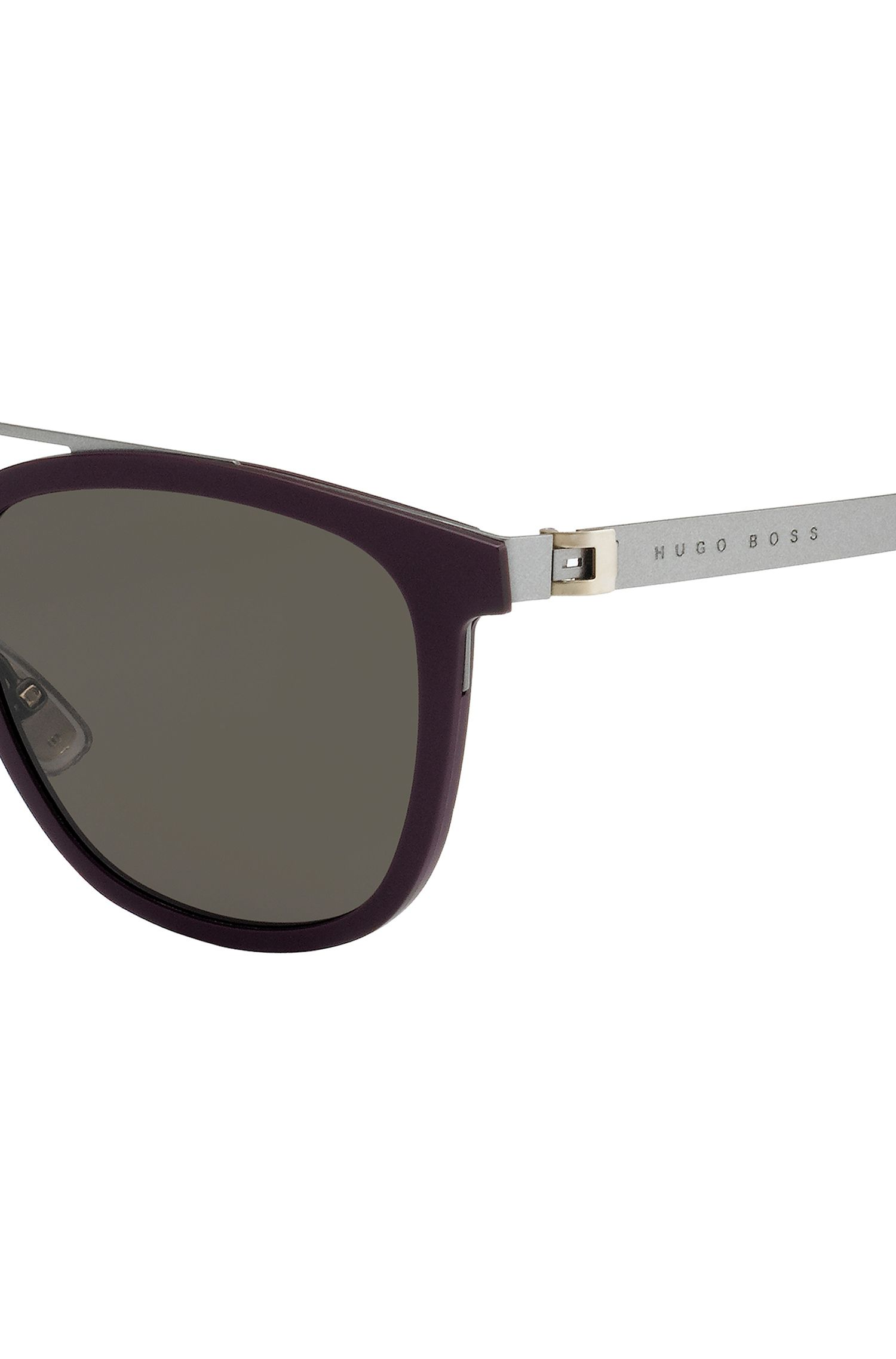 Acetate Stainless Steel Round Sunglasses | BOSS 0838S