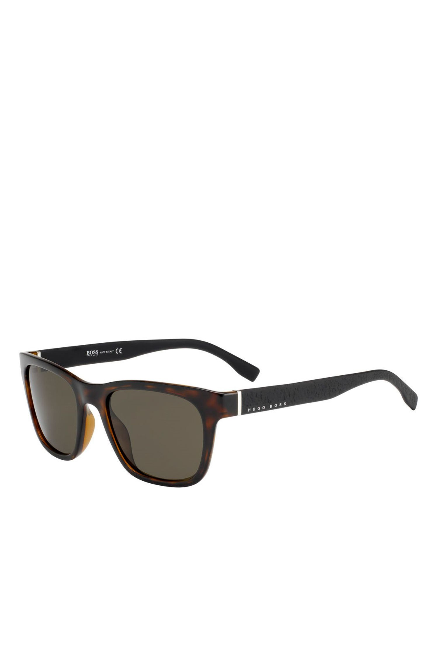 Black Lens Havana Square Sunglasses | BOSS 0830