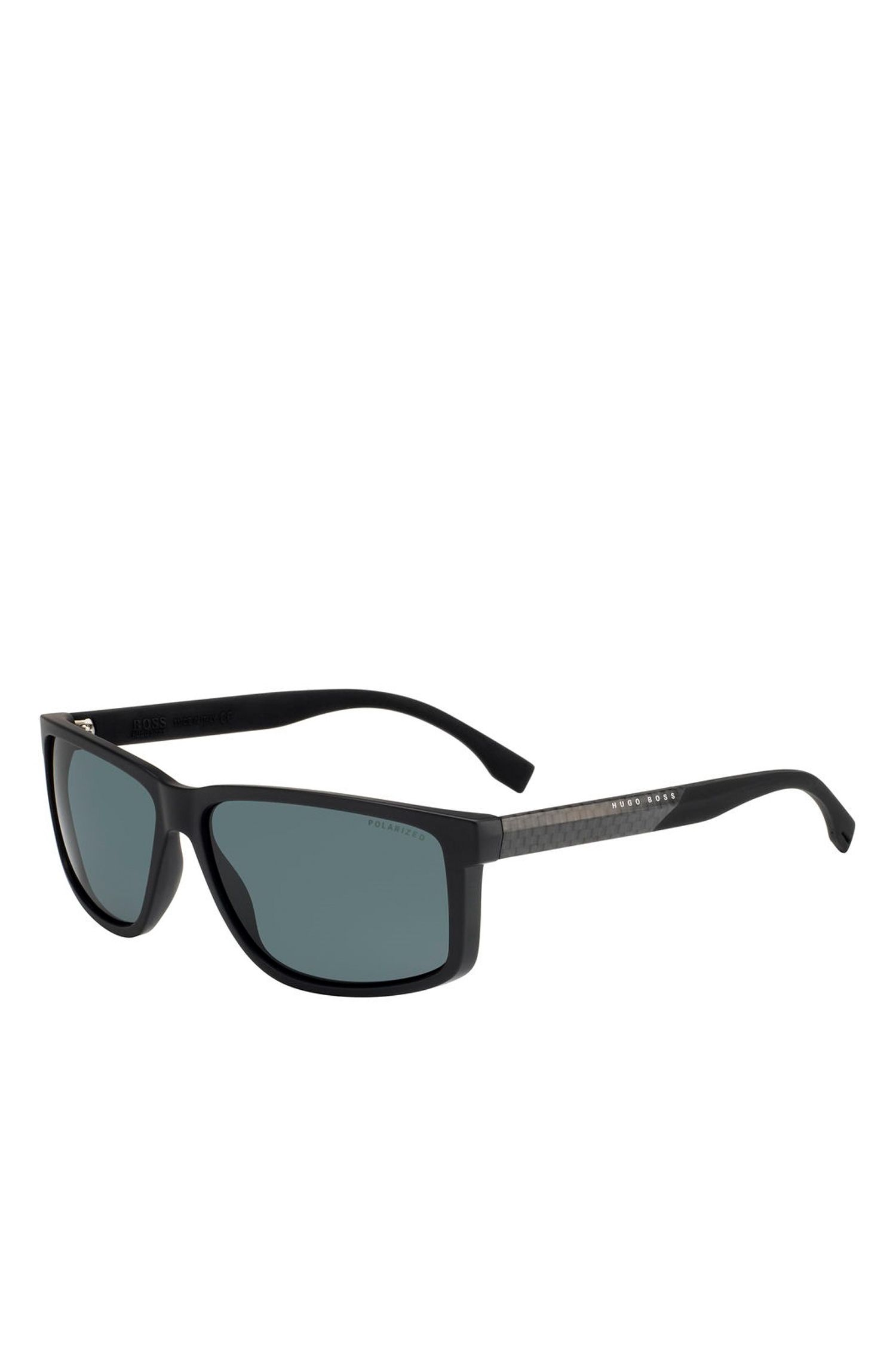 'BOSS 0833S' | Rectangular Carbon Fiber Polarized Sunglasses