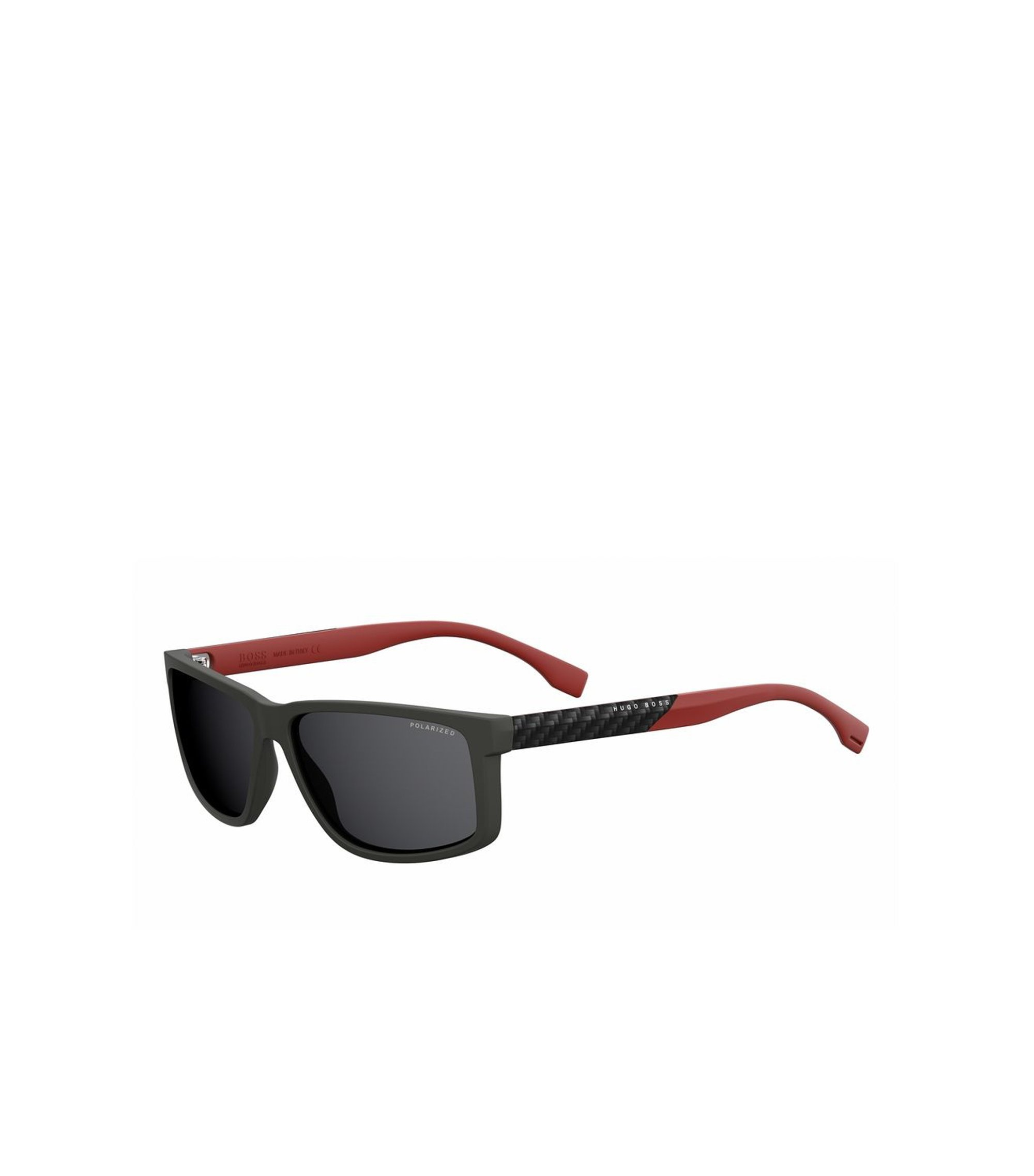 Rectangular Black Lens Carbon Fiber Sunglasses | BOSS 0833S, Assorted-Pre-Pack