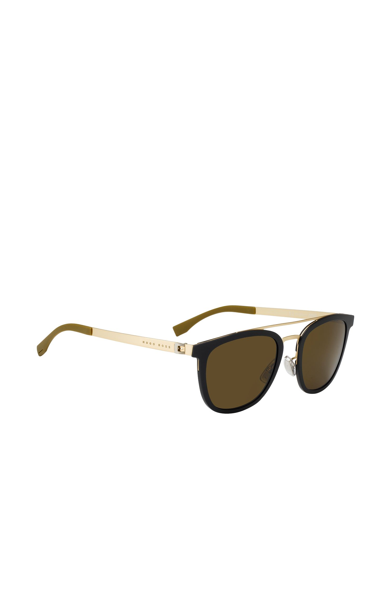 Gold Tone Stainless Steel Round Sunglasses | BOSS 0838