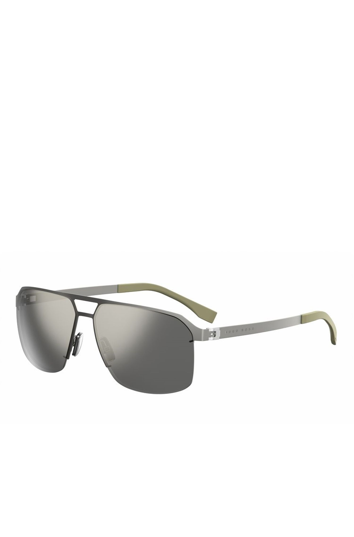 'BOSS 0839S' | Navigator Flat Metal Sunglasses