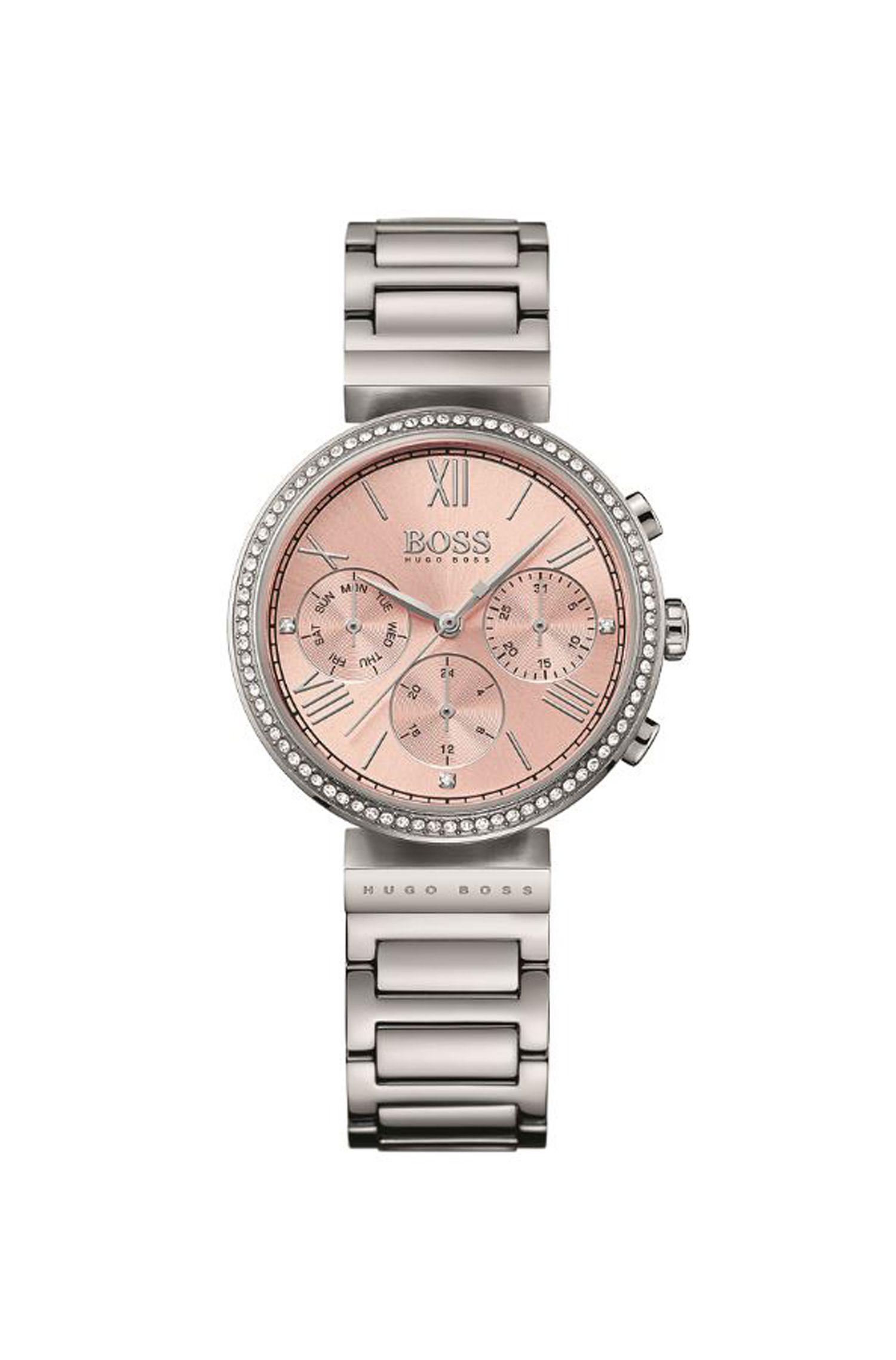 Classic Women Sport, Crystal & Steel Chronograph Watch | 1502403