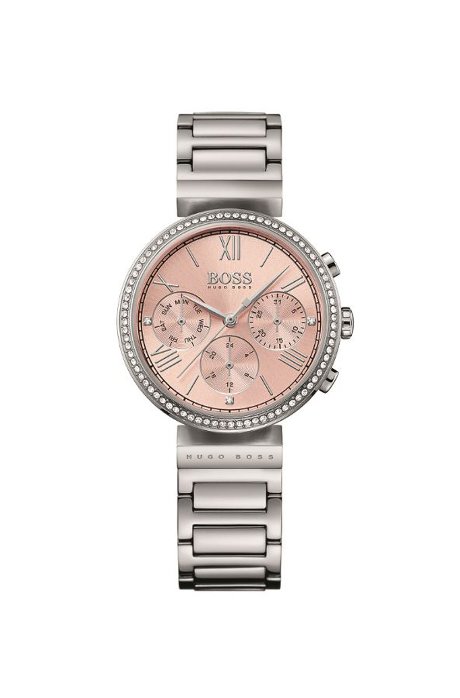 '1502403' | Chronograph Stainless Steel Crystal Accent Watch