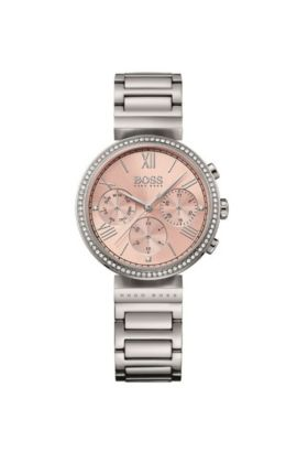 '1502403' | Chronograph Stainless Steel Crystal Accent Watch, Assorted-Pre-Pack