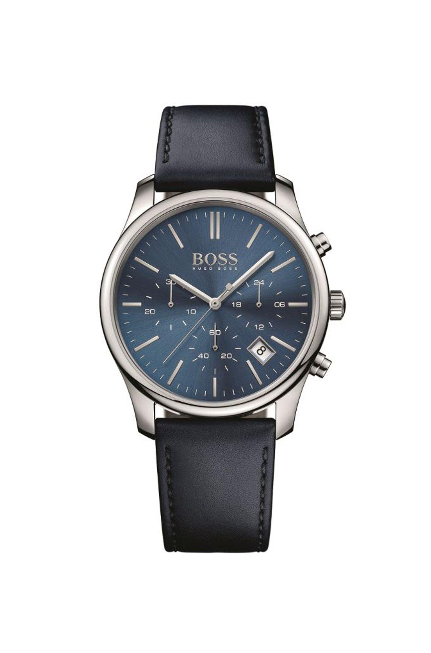 '1513431' | Chronograph Leather Strap Quartz Watch