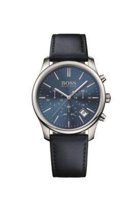 '1513431' | Chronograph Leather Strap Quartz Watch, Assorted-Pre-Pack
