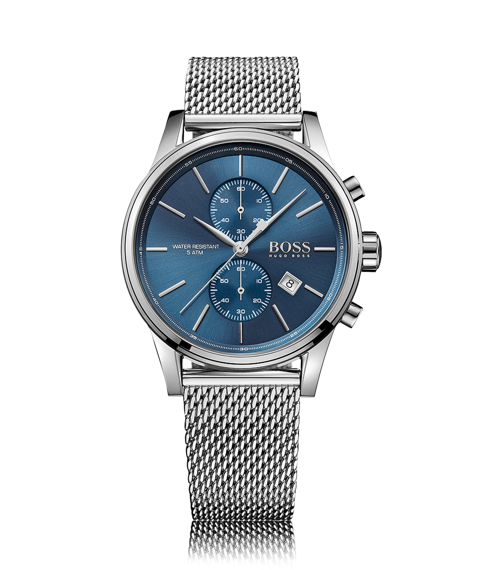 Stainless Steel Mesh Chronograph Watch   1513441, Assorted-Pre-Pack