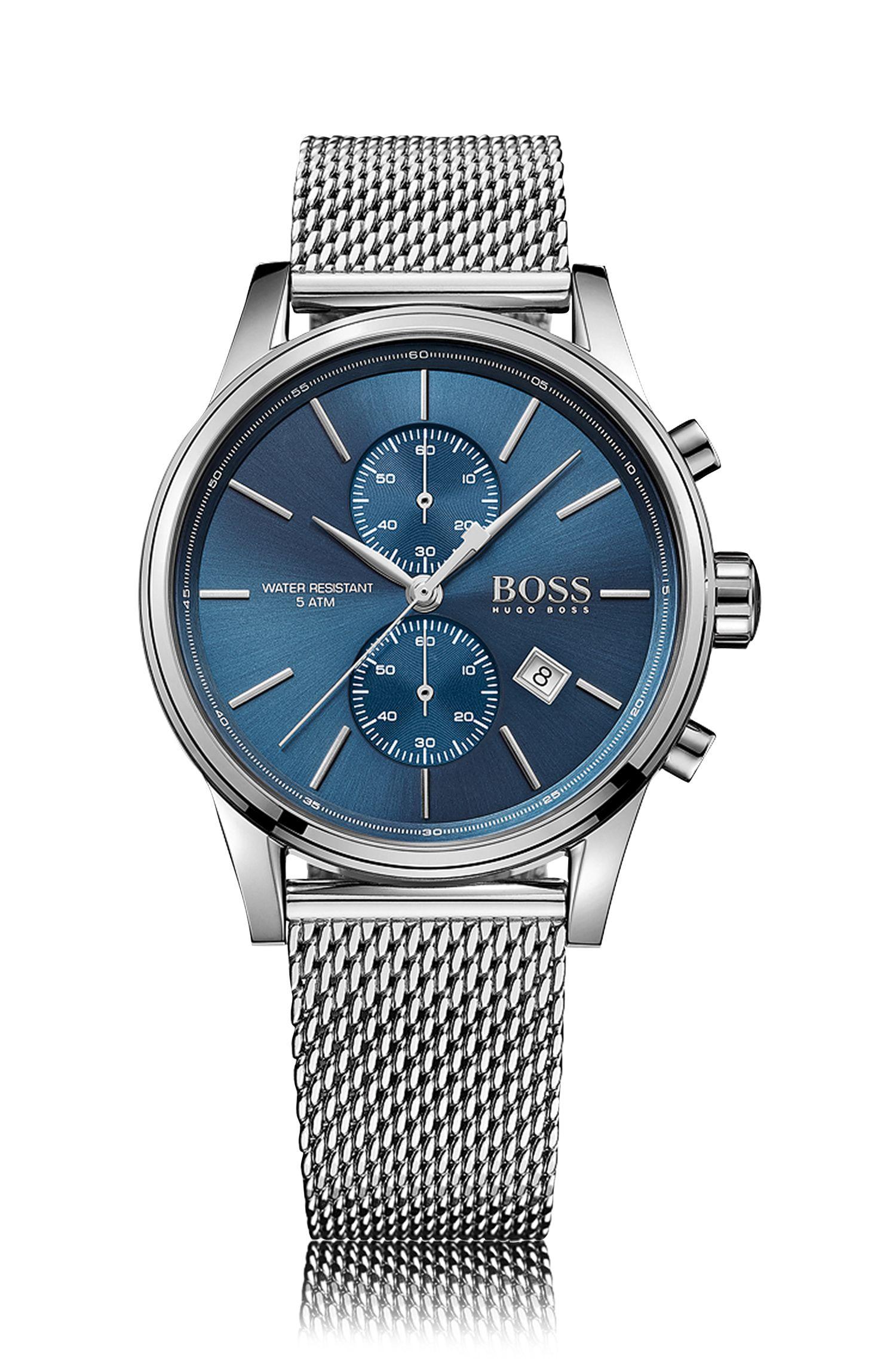 '1513441'   Chronograph Stainless Steel Mesh Strap Quartz Watch