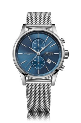 '1513441' | Chronograph Stainless Steel Mesh Strap Quartz Watch, Assorted-Pre-Pack