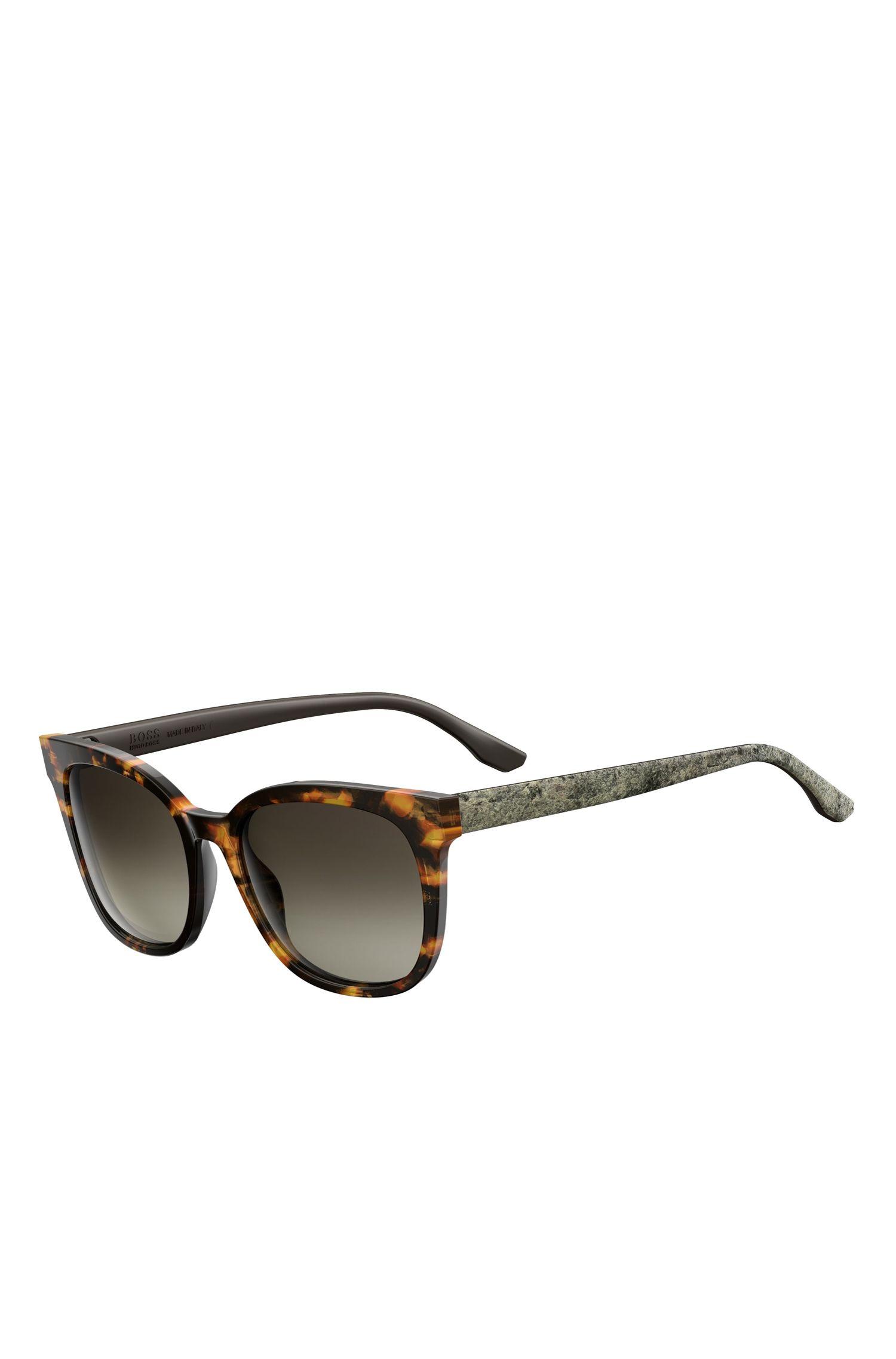 'BOSS 0893S' | Tortoiseshell Acetate Round Sunglasses