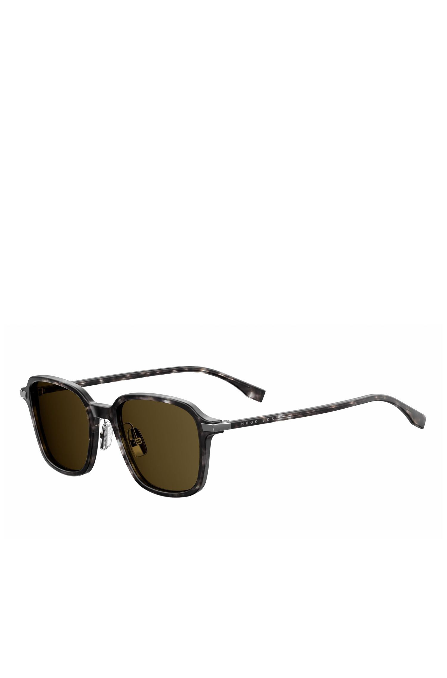 '0909S' | Brown Lens Havana Square Sunglasses