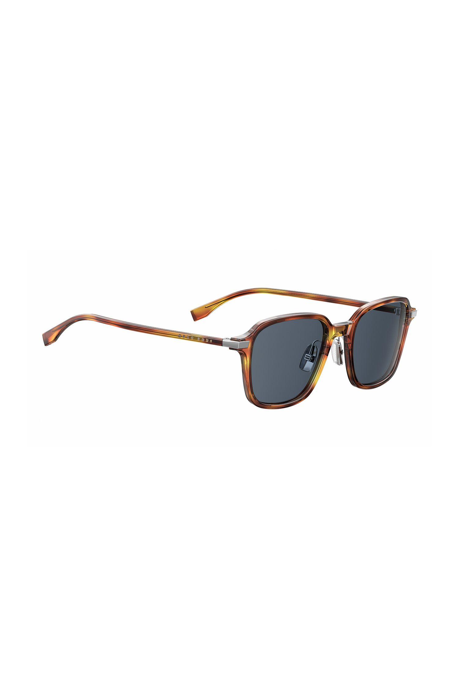 'BOSS 0909S' | Black Lens Havana Square Sunglasses