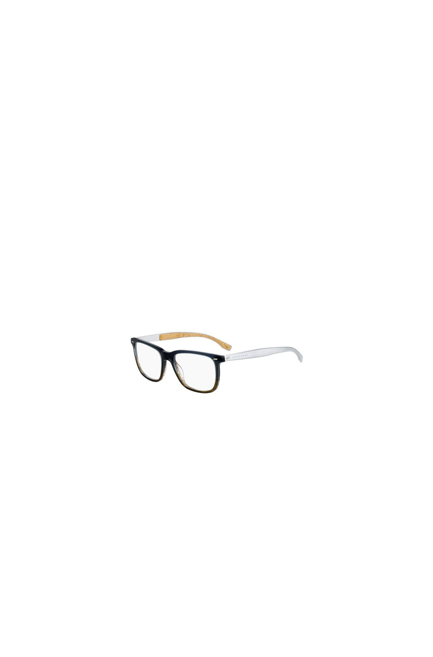 Acetate, Metal Rectangular Optical Frames | BOSS 0884 0R7